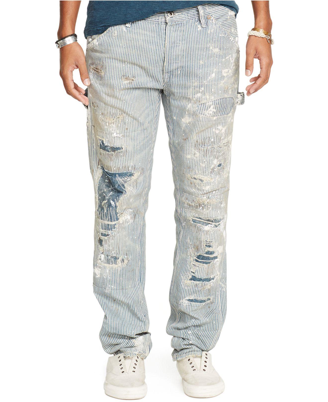 denim supply ralph lauren tapered straight fit abram jeans in blue for men lyst. Black Bedroom Furniture Sets. Home Design Ideas