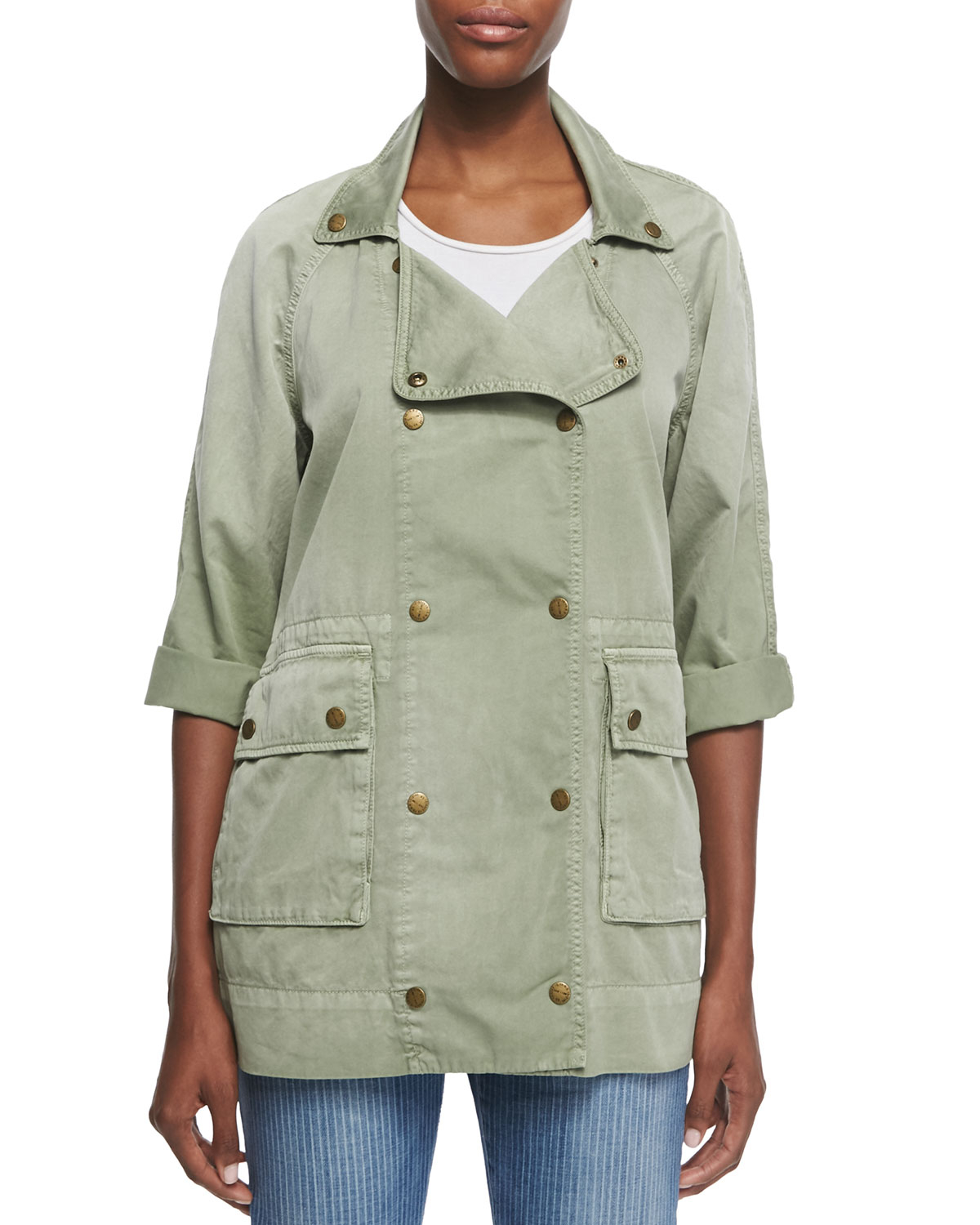 Free Shipping Recommend Current/Elliott Denim Double-Breasted Jacket Many Kinds Of Online WF7v4W6FL3