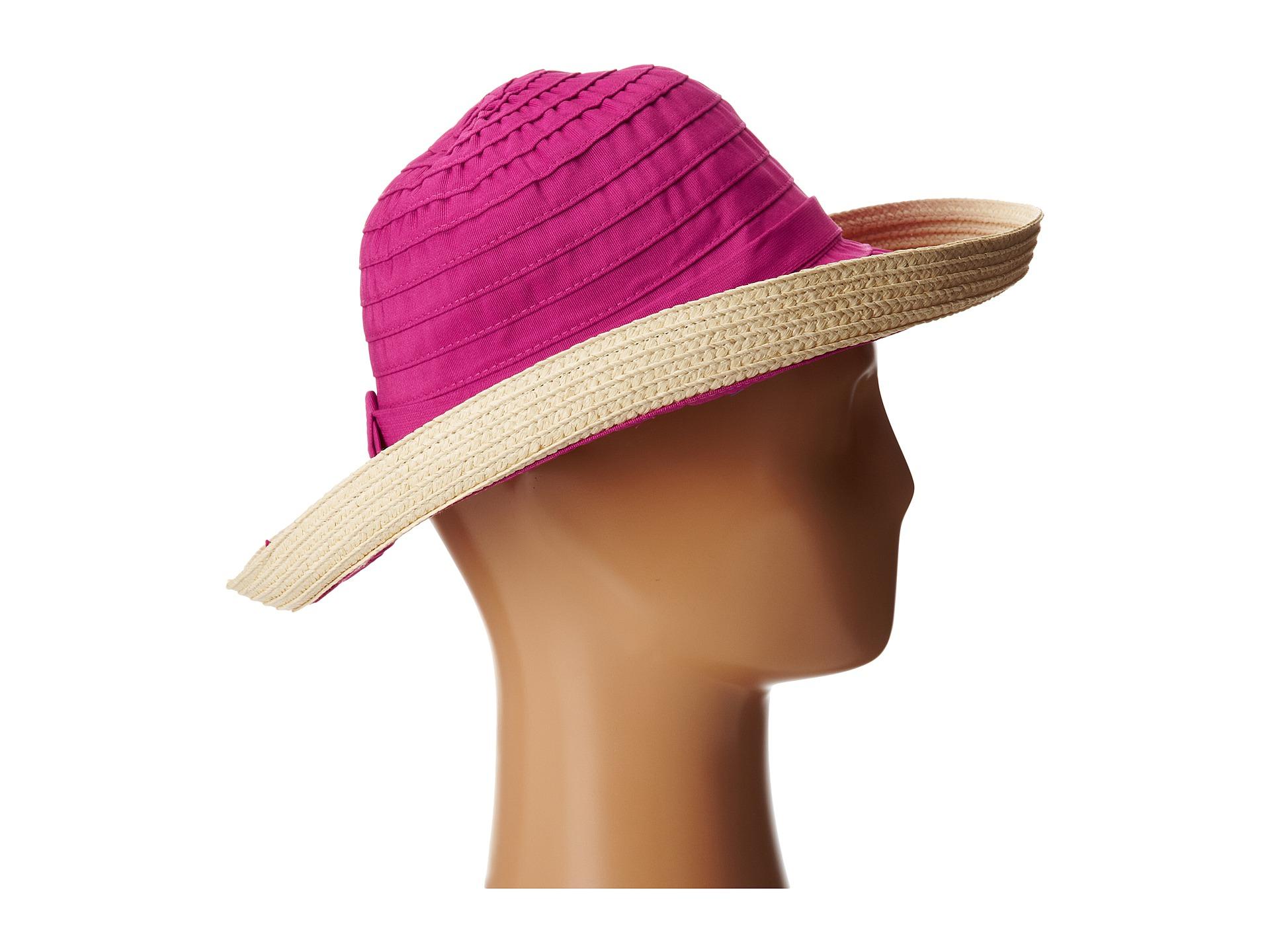 213e8a2db4e Lyst - San Diego Hat Company Rbm5554 Ribbon Kettle Brim in Pink