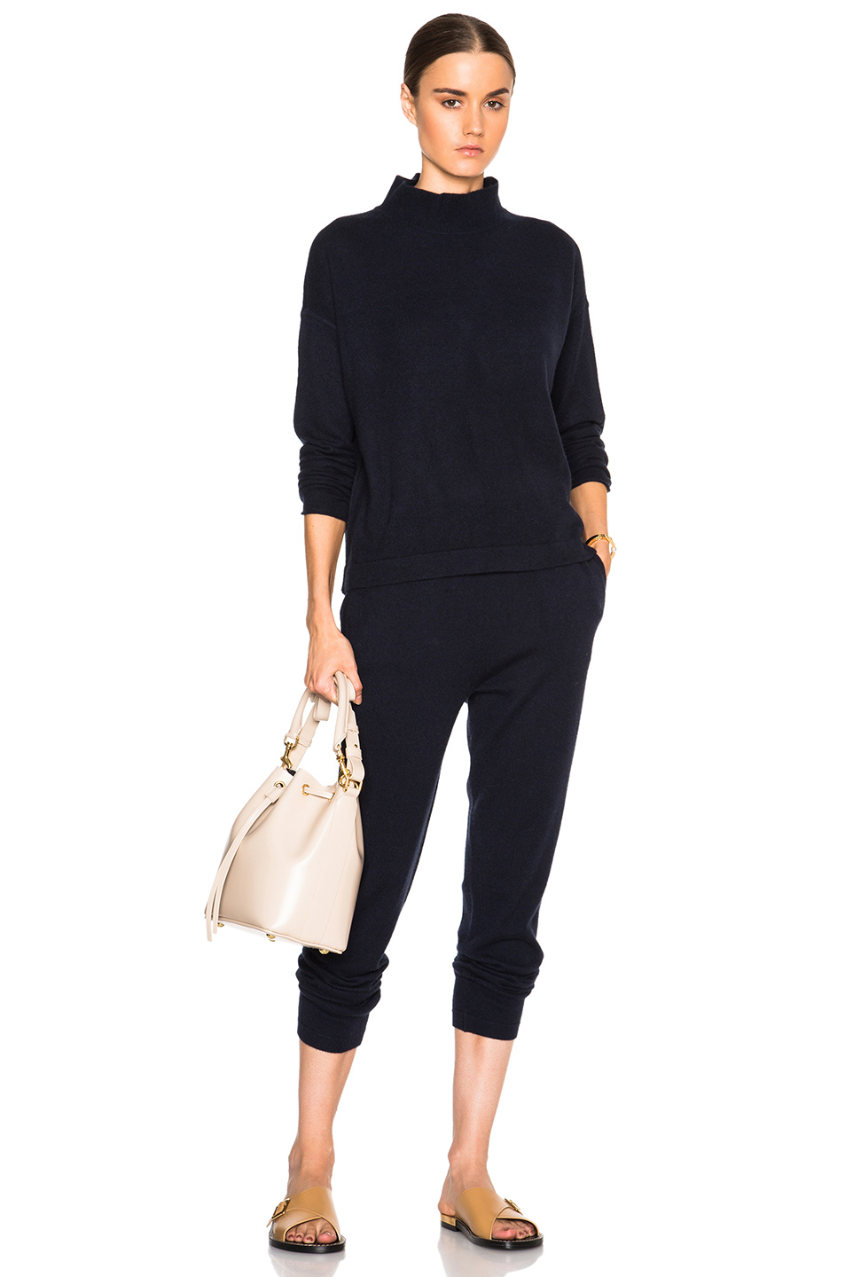 Lyst - Inhabit Cashmere Pants in Blue