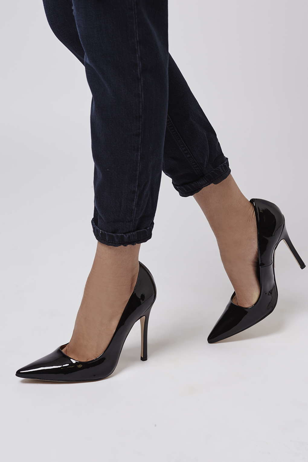 c8c78055ec TOPSHOP Gallop Patent Court Shoes in Black - Lyst