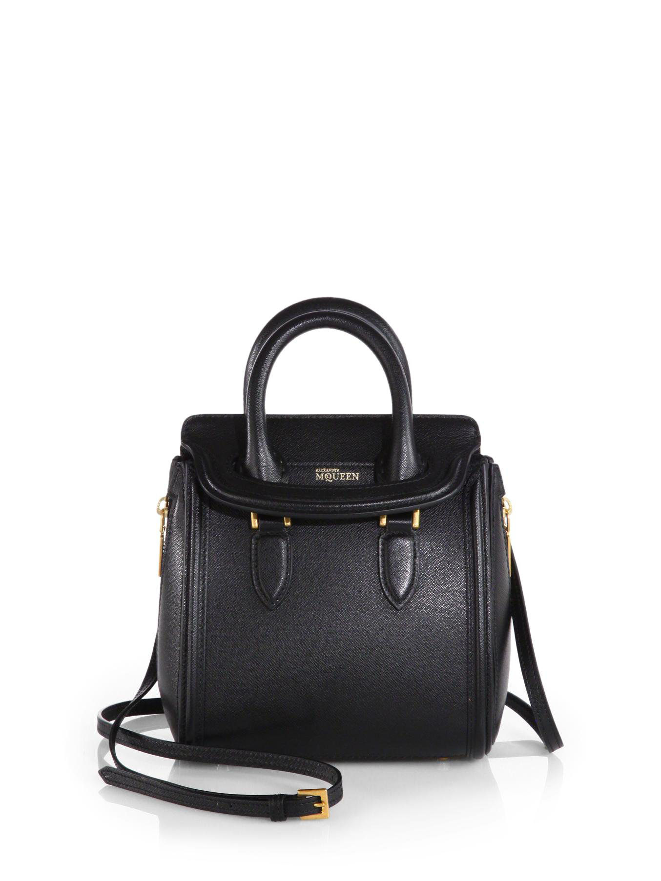 42a190e3dc0d3 Lyst - Alexander McQueen Heroine Mini Crossbody Bag in Black