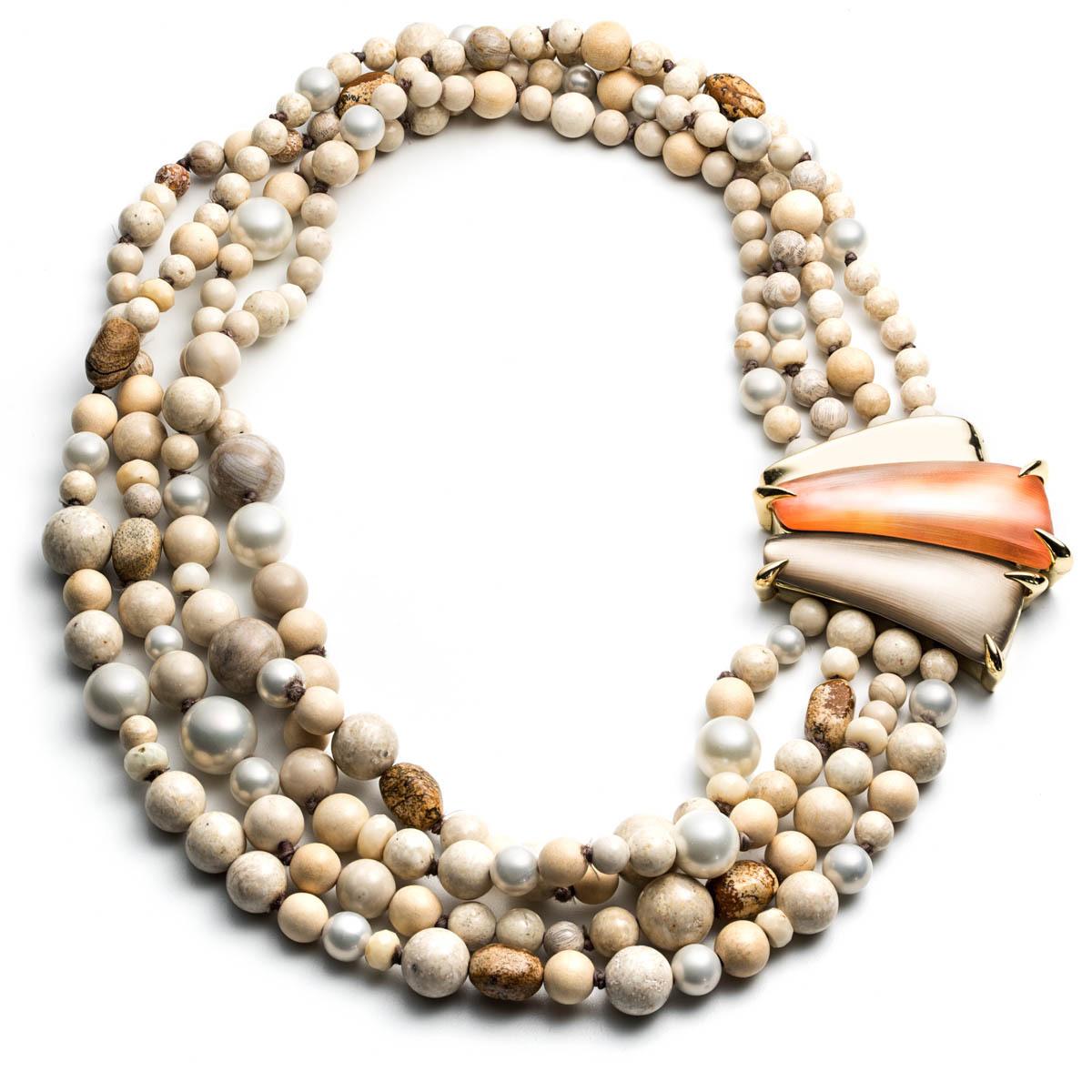 Torsade Necklace: Alexis Bittar Desert Jasmine Torsade Necklace In Orange