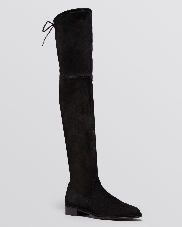 stuart weitzman lowjack leather and neoprene knee high