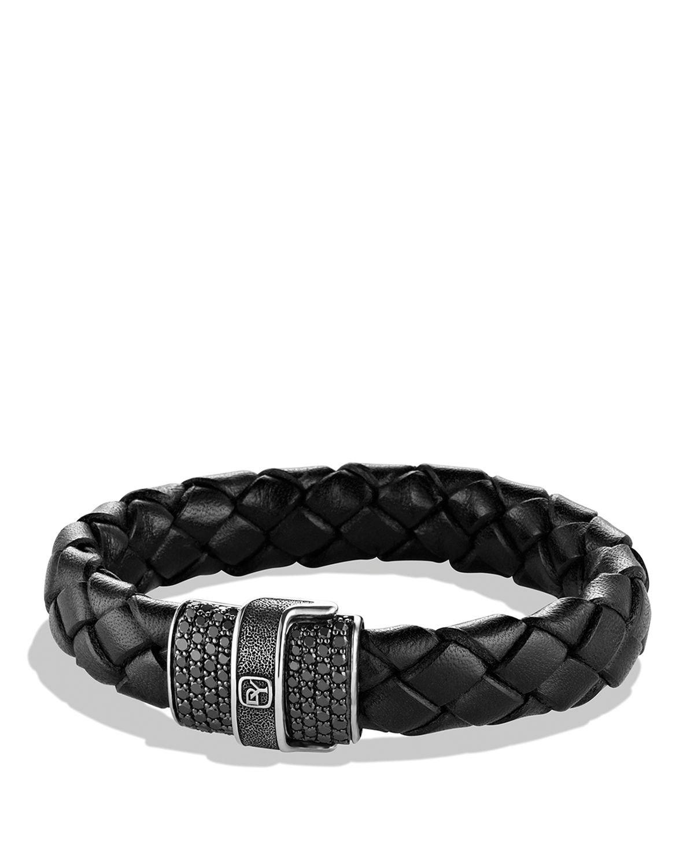 David Yurman Pave Bracelet In Black With Black Diamonds In