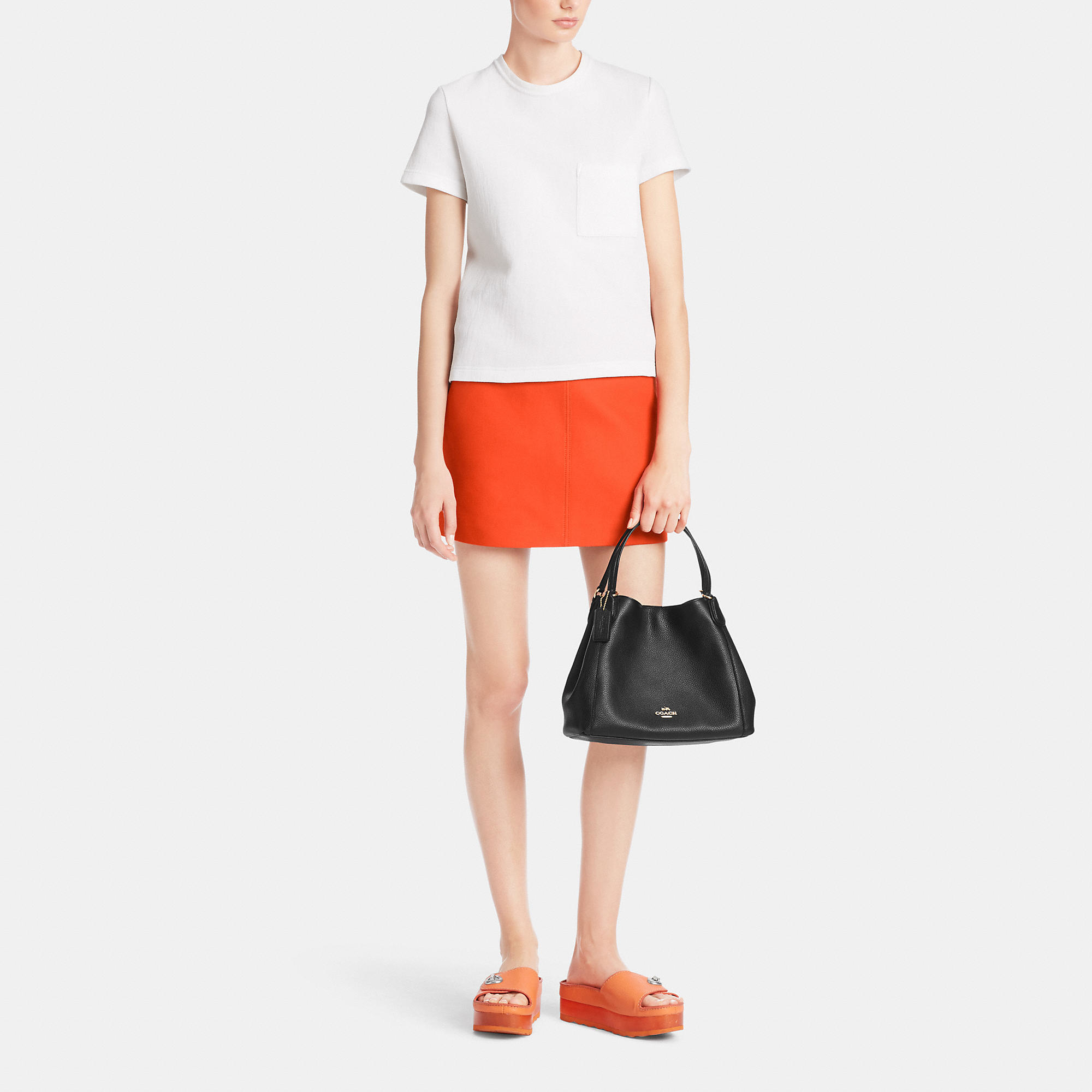 a906ec535 COACH Edie Shoulder Bag 28 In Pebble Leather - Lyst