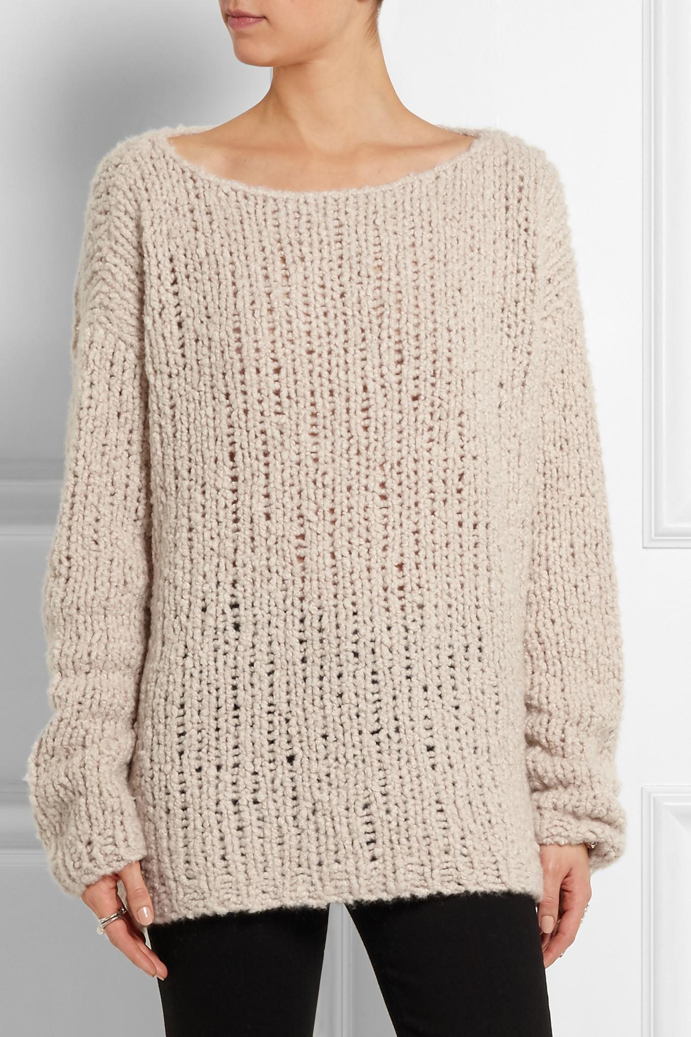 Donna karan Chunky-knit Cashmere Sweater | Lyst