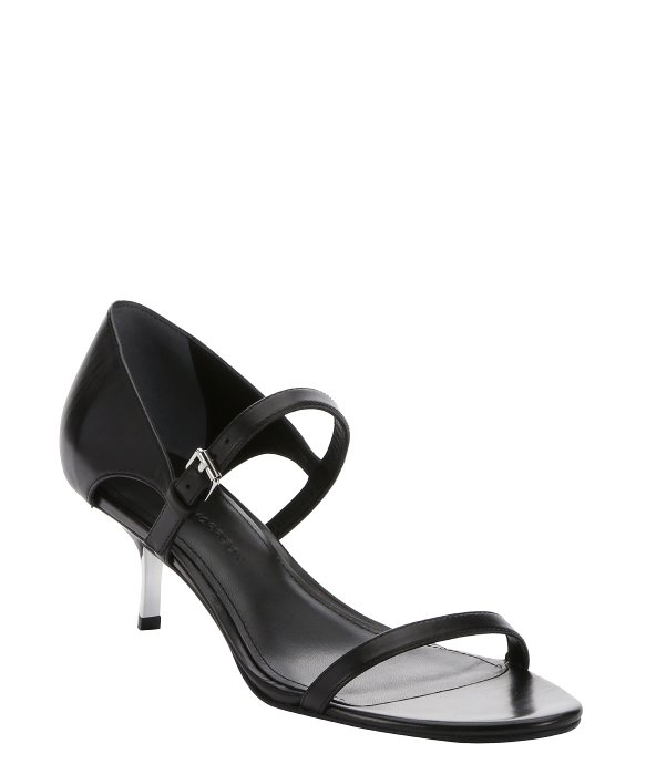 Sigerson morrison Black Leather 'seanna' Strappy Kitten Heel ...