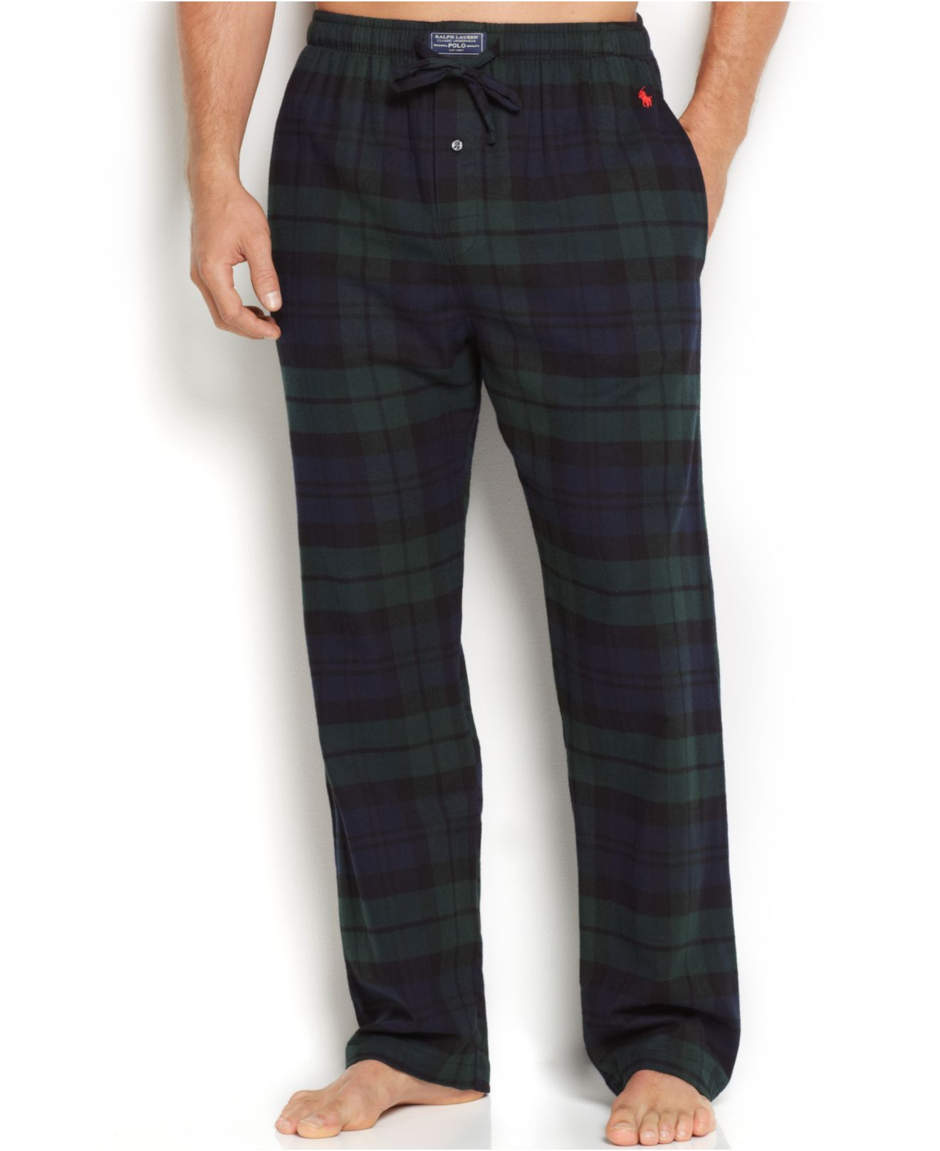 Pair with our Flannel Henley Shirt for the coziest flannel pajamas. Safety stitched, matching stripes the old fashioned way. Adult pants come with side pockets bar .