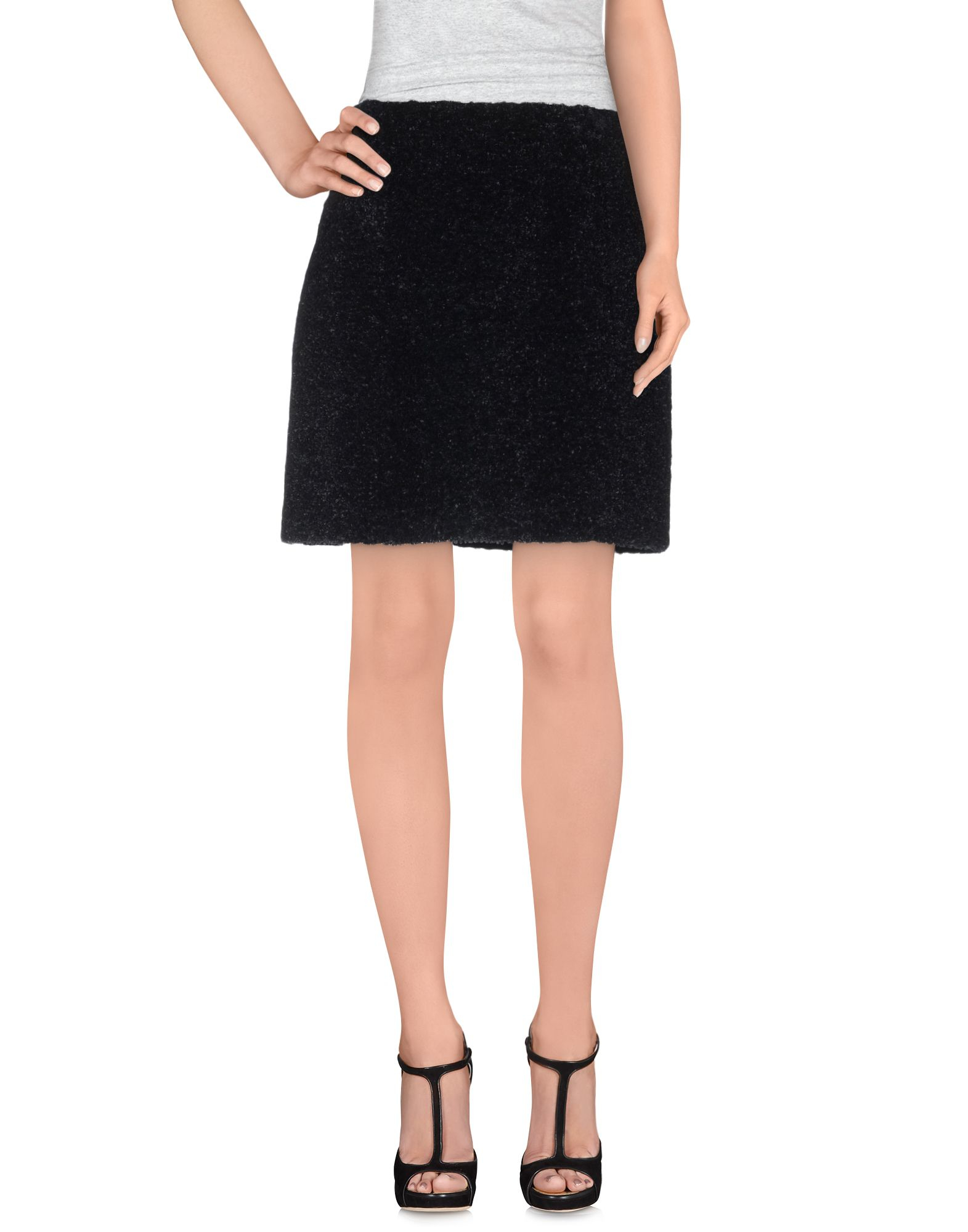 carven knee length skirt in black save 73 lyst