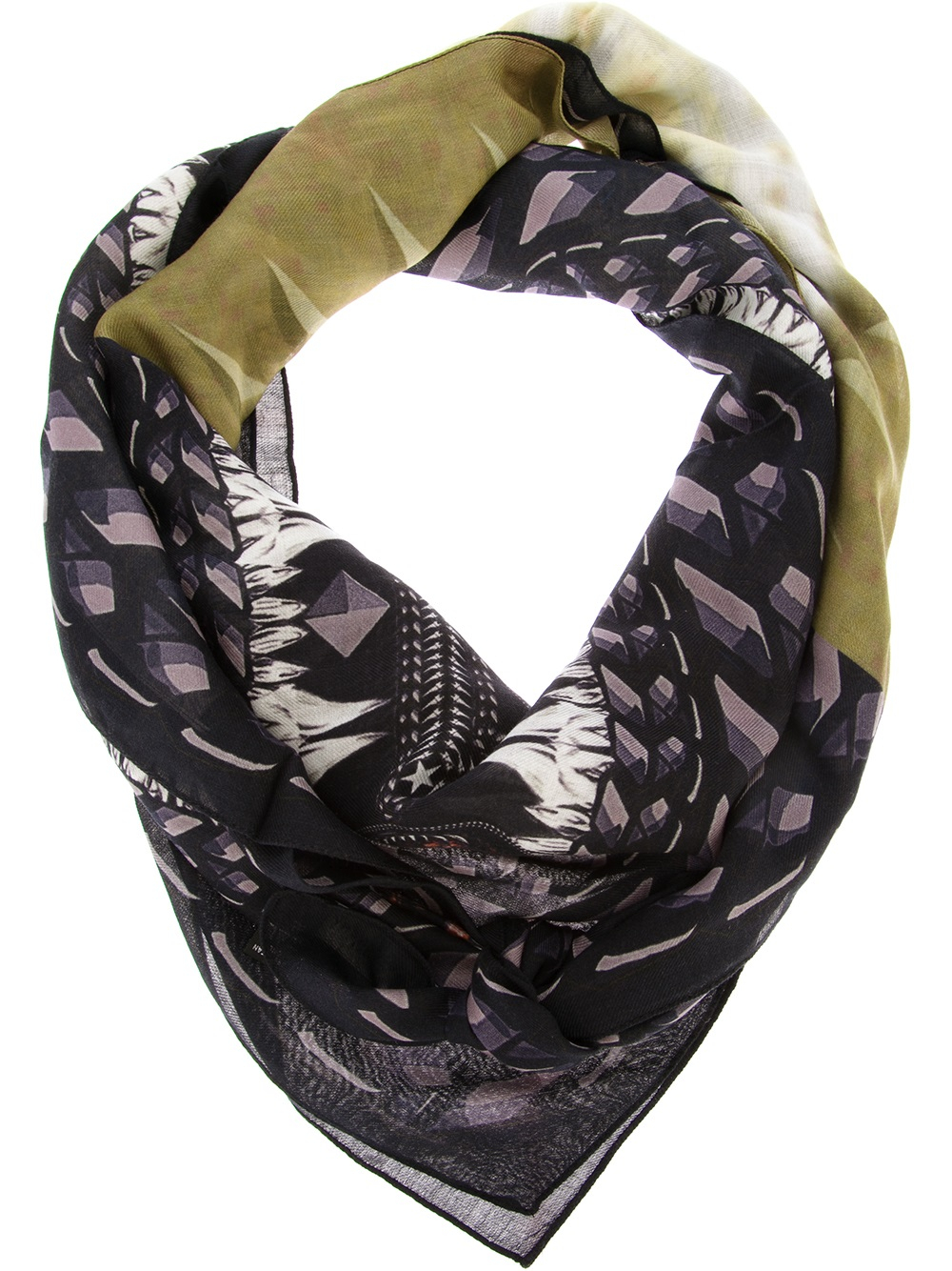 givenchy foulard scarf in blue for lyst