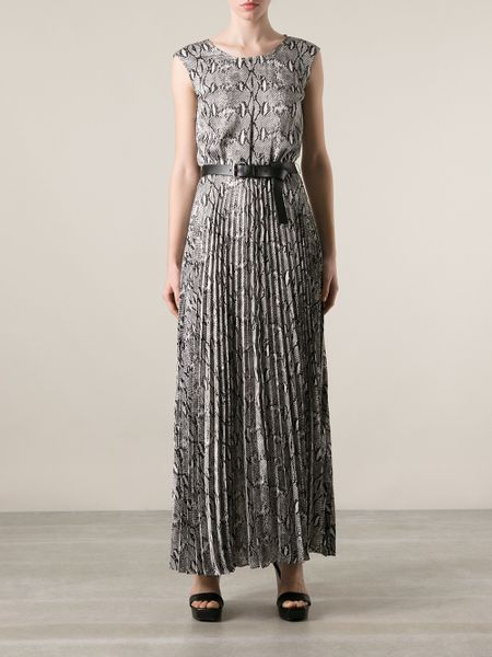 Michael Michael Kors Snake Skin Print Maxi Dress In Animal