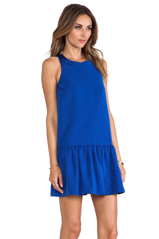 Tibi Katia Faille Dress in Blue | Lyst