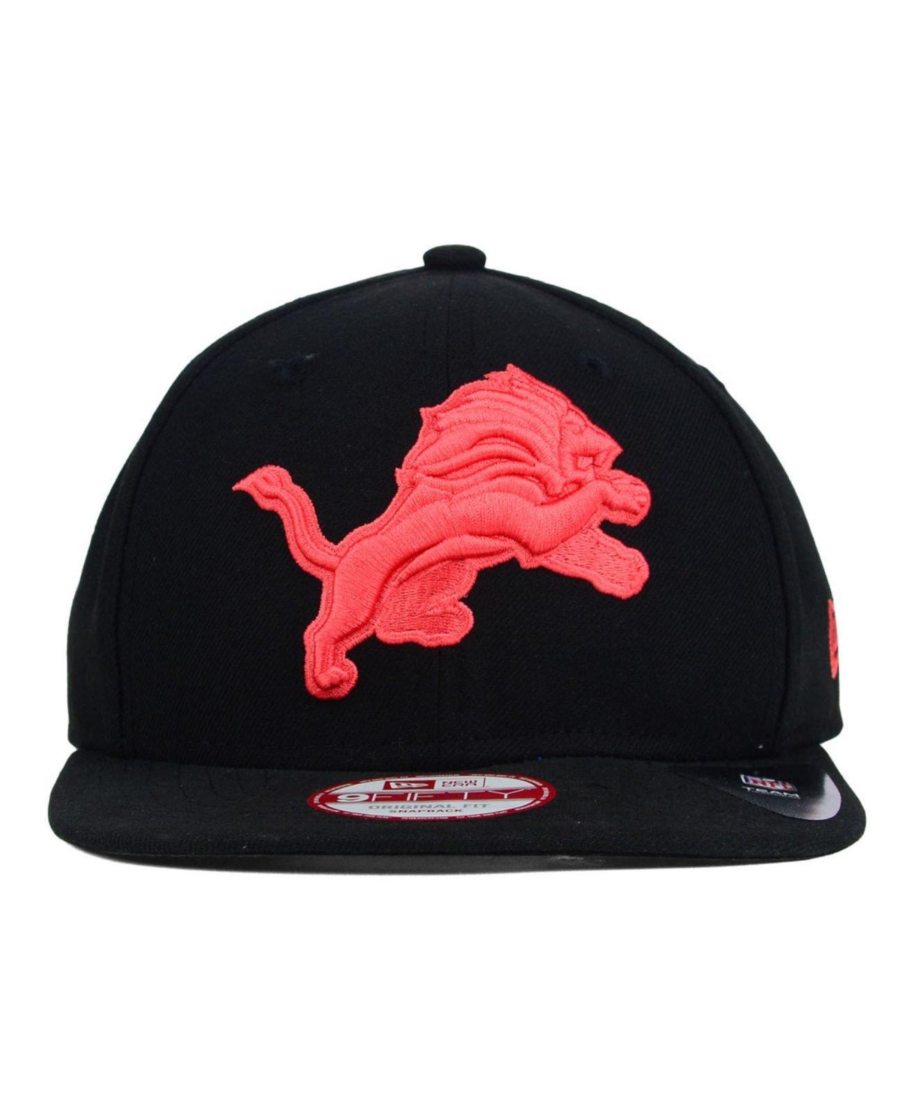 ... coupon lyst ktz detroit lions original fit 9fifty snapback cap in red  for men 2ba88 88290 39f6d668d