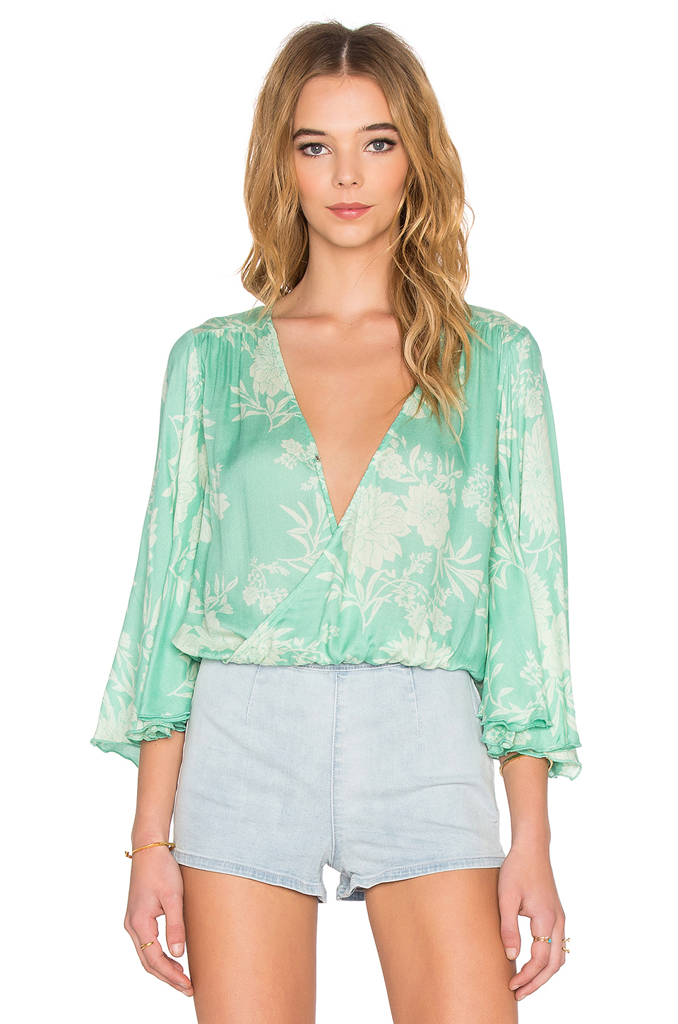 7952ef0824e Amuse Society Pipa Blouse in Green - Lyst