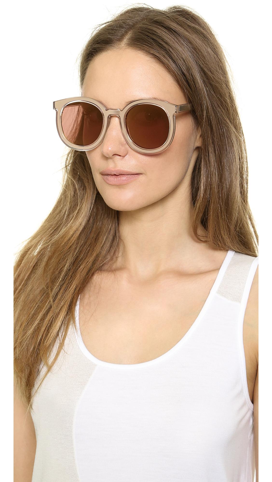 80b60799106b9 Karen Walker Super Duper Mirrored Sunglasses - Goldgold Flash Mirror in  Metallic - Lyst