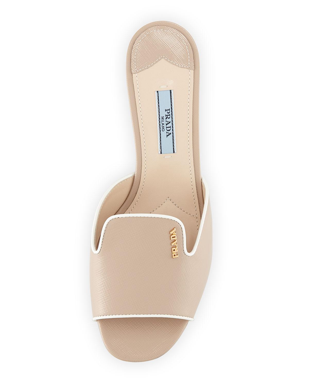 2015 new sale online cheap sale sast Prada Saffiano Leather Sandals explore cheap price discount outlet 3PnLc68Unk