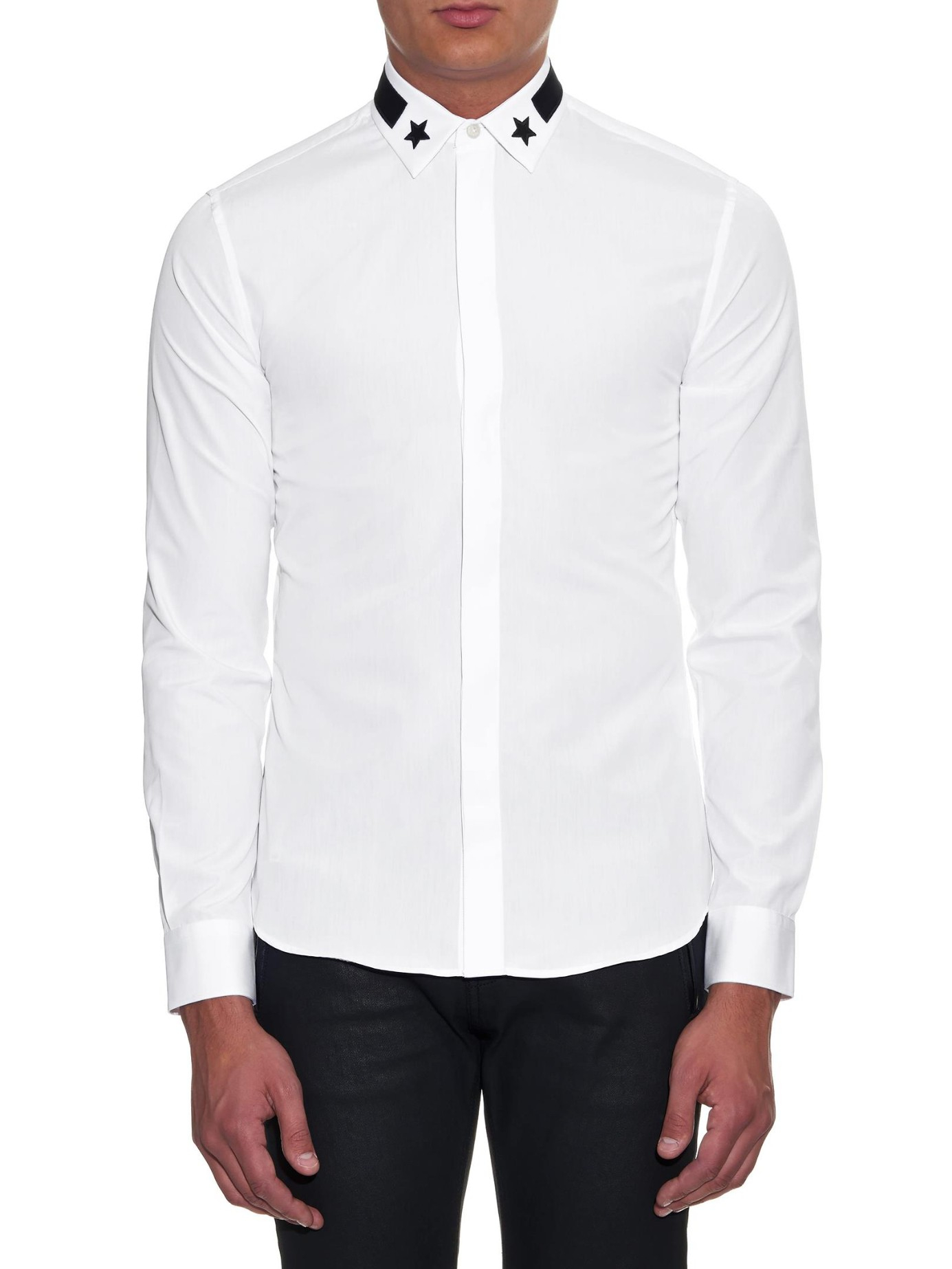 054252ae81d Lyst - Givenchy Stars And Stripes-Embroidered Cotton Shirt in White for Men