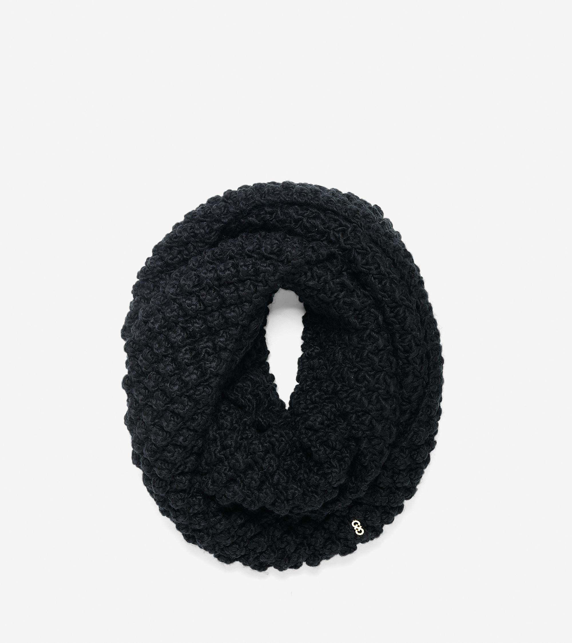 Lyst - Cole Haan Popcorn Stitch Infinity Scarf in Black