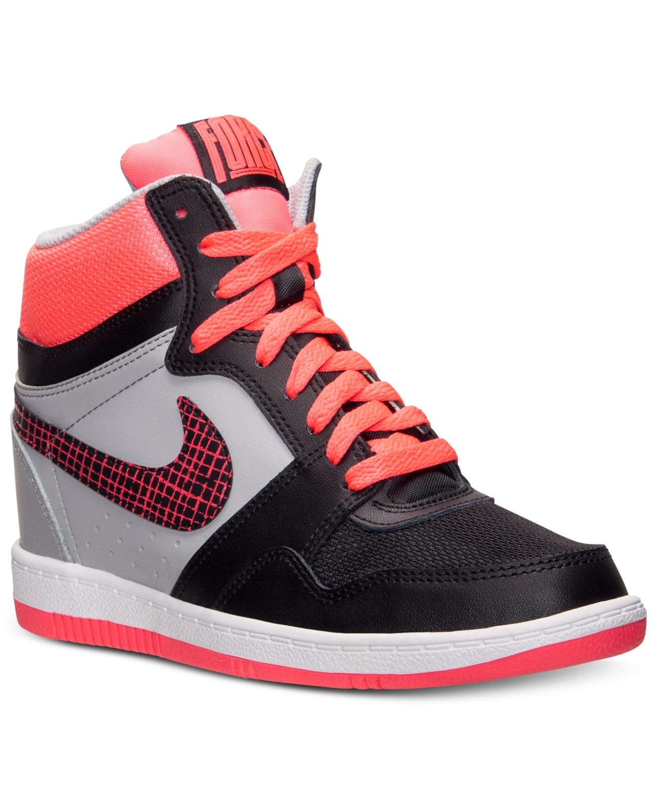sale retailer a3613 08316 Lyst - Nike WomenS Force Sky High Casual Sneakers From Finis