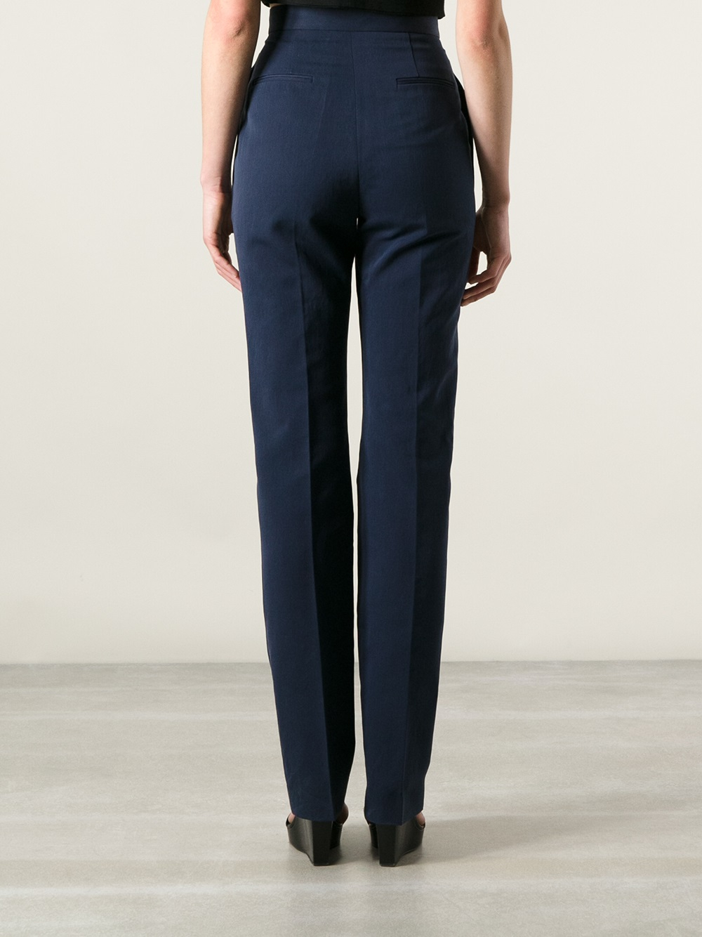 Image result for stella mccartney blue high waist trouser