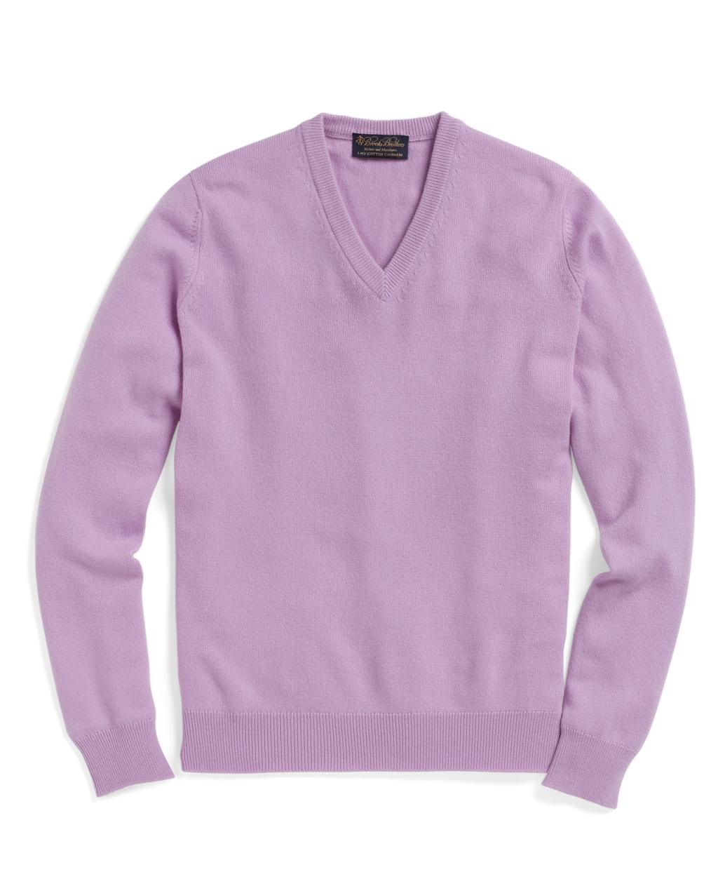 Mens Lavender Cashmere Sweater