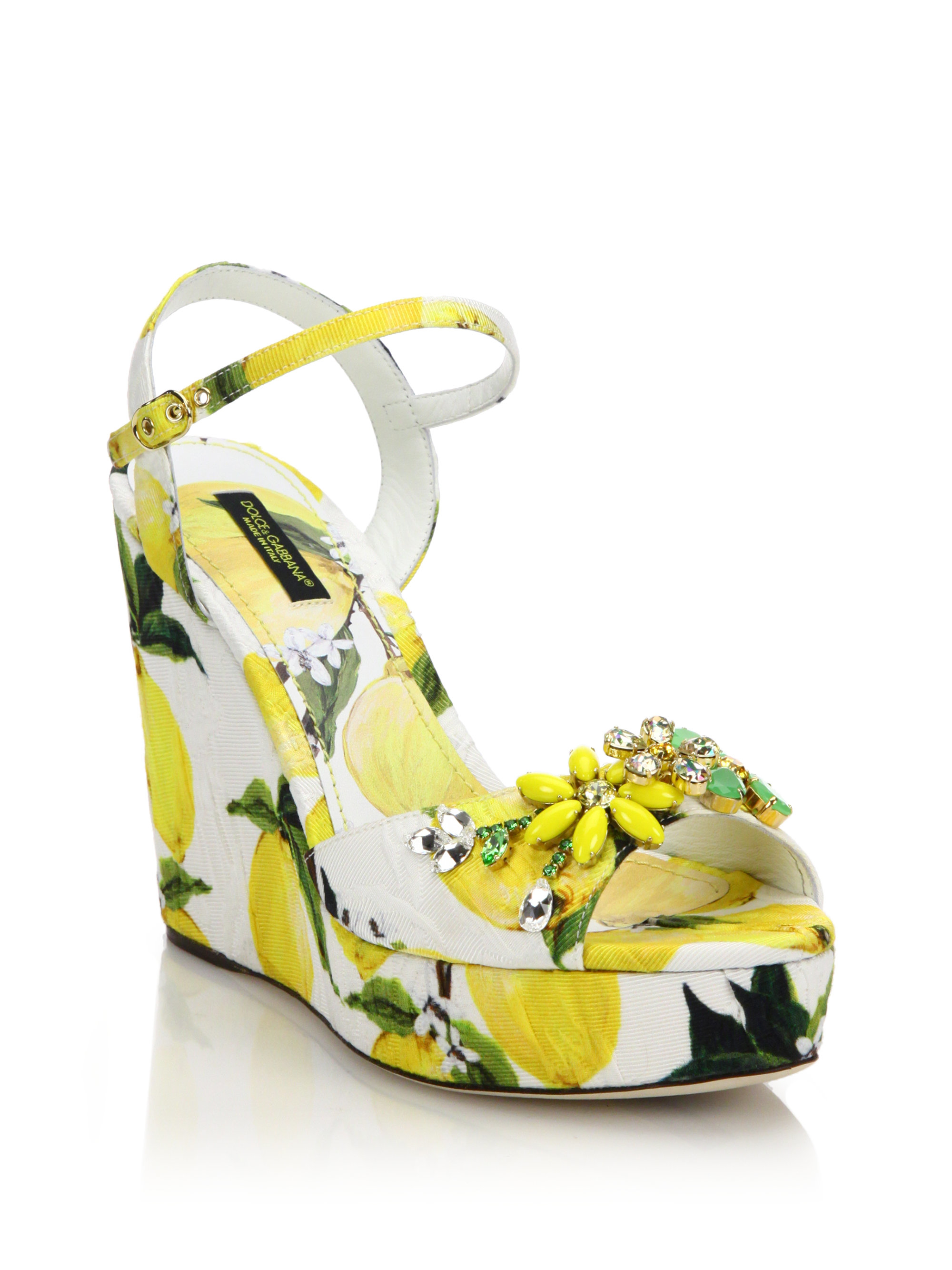 Dolce & Gabbana Embellished Patent-Leather Platform Sandals O32yz6VCHR