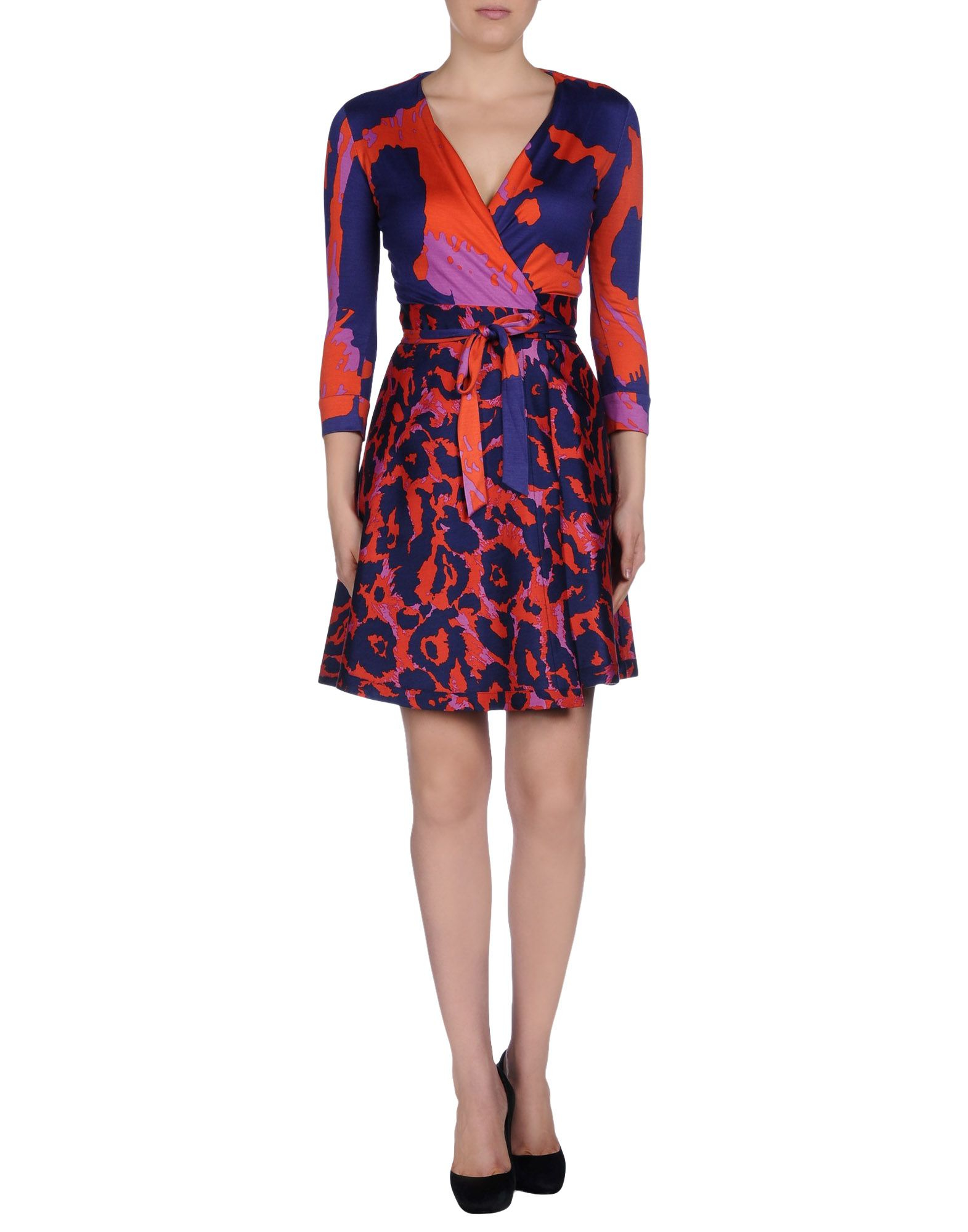 Diane von furstenberg short dress in red lyst for Diane von furstenberg clothes