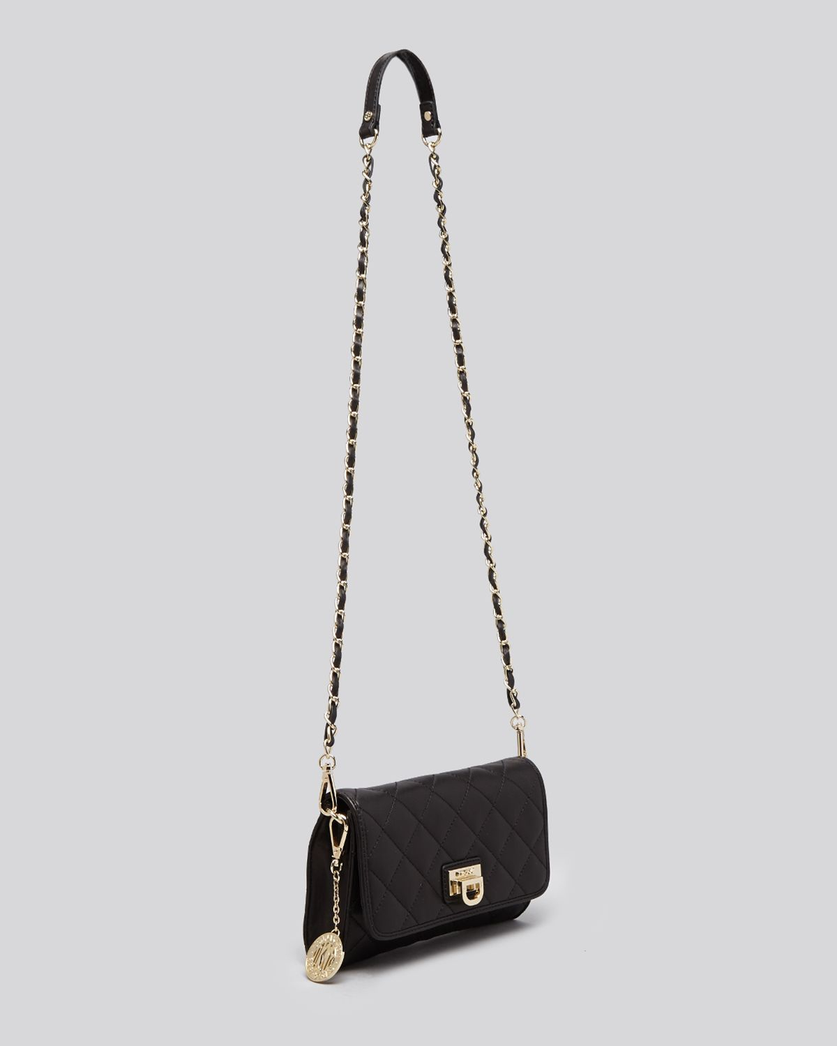 Dkny Crossbody Gansevoort Quilted Small Flap In Natural Lyst