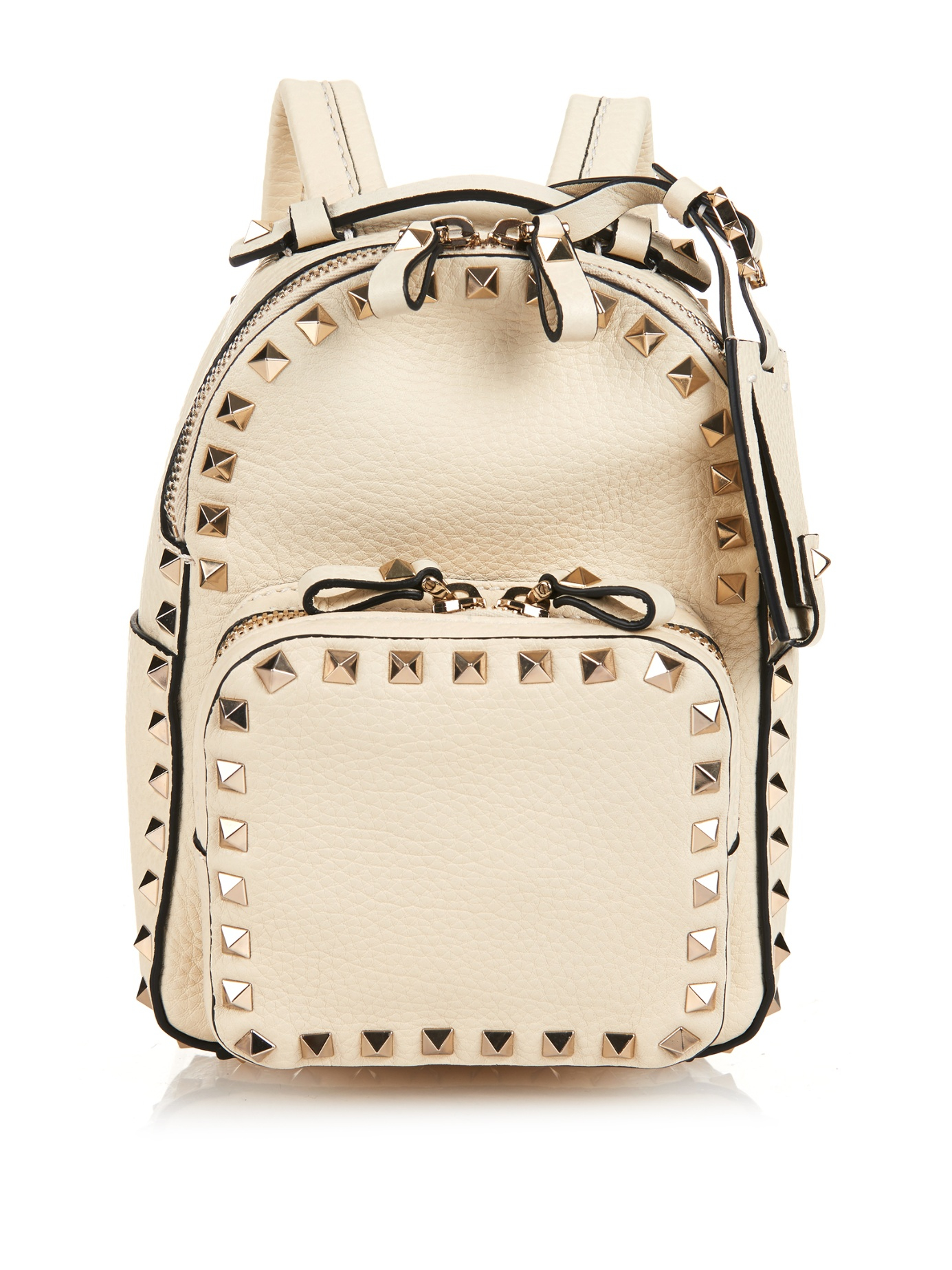 65964c4b63 Valentino Rockstud Leather Mini Backpack in White - Lyst
