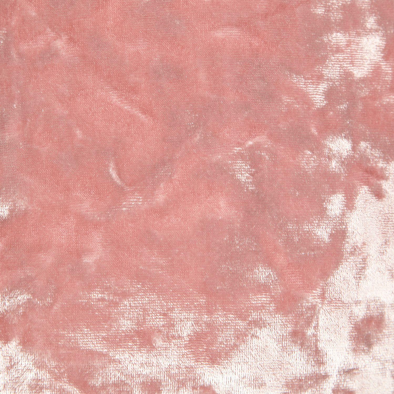 River Island Light Pink Velvet Turtle Neck Crop Top In