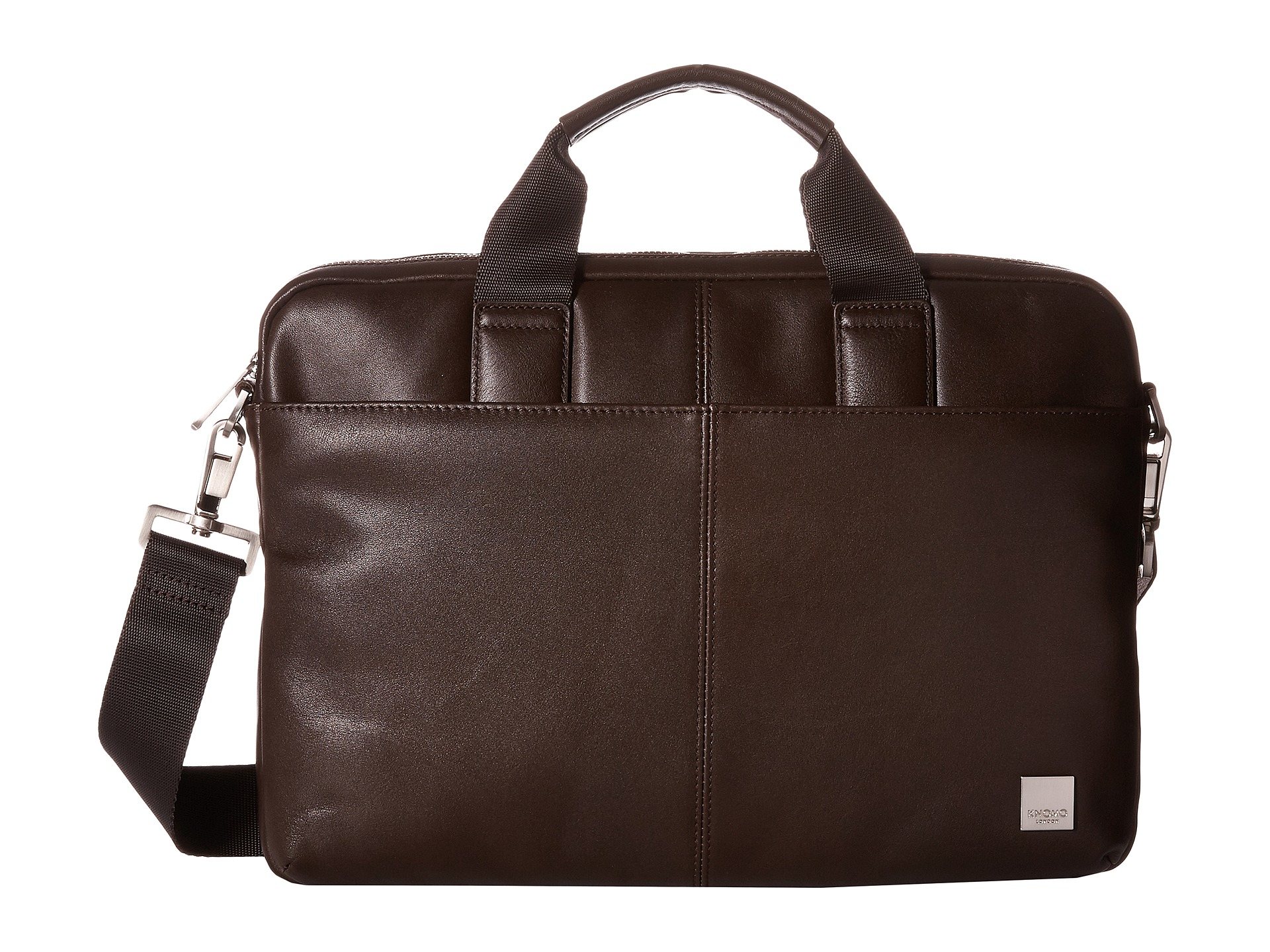 Lyst Knomo Stanford Slim Laptop Briefcase In Brown For Men