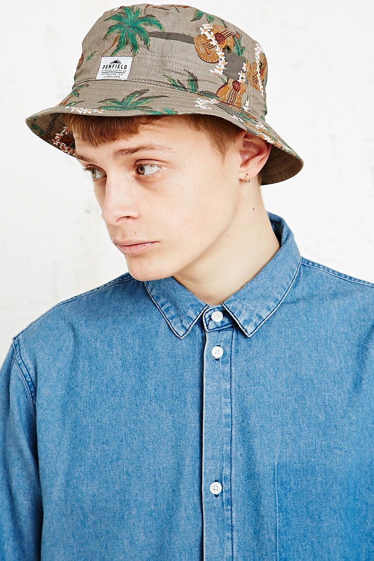 c4ac98f9 Penfield Hawaiian Print Baker Bucket Hat in Grey in Gray for Men - Lyst