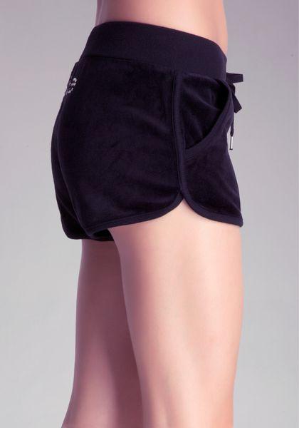 Bebe Velour Dolphin Shorts In Black Lyst