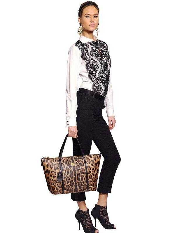 Lyst - Dolce   Gabbana Miss Escape Leopard Print Tote Bag 4c945a813613f