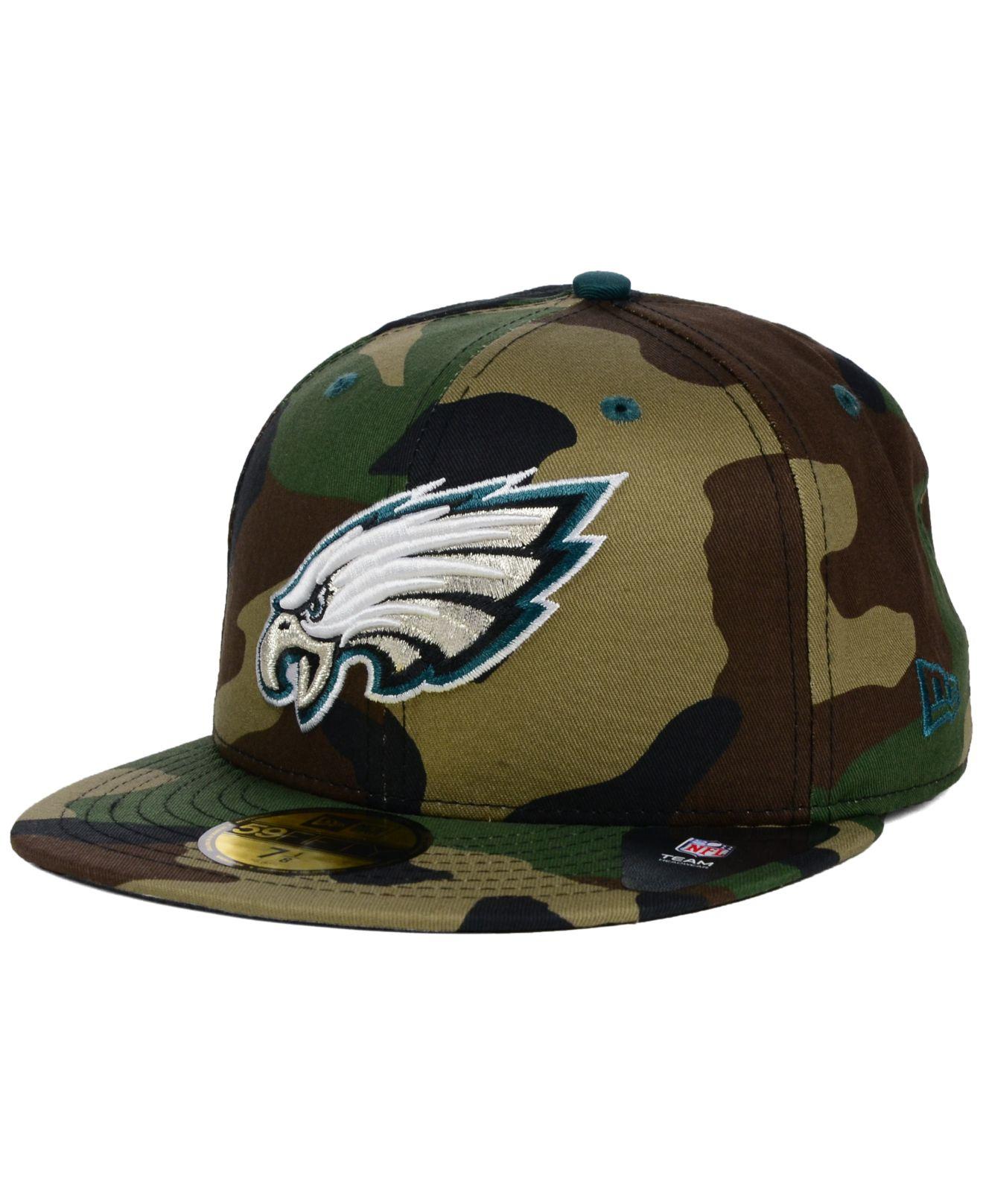 4b28d674622 Lyst - KTZ Philadelphia Eagles Camo Pop 59fifty Cap in Green for Men