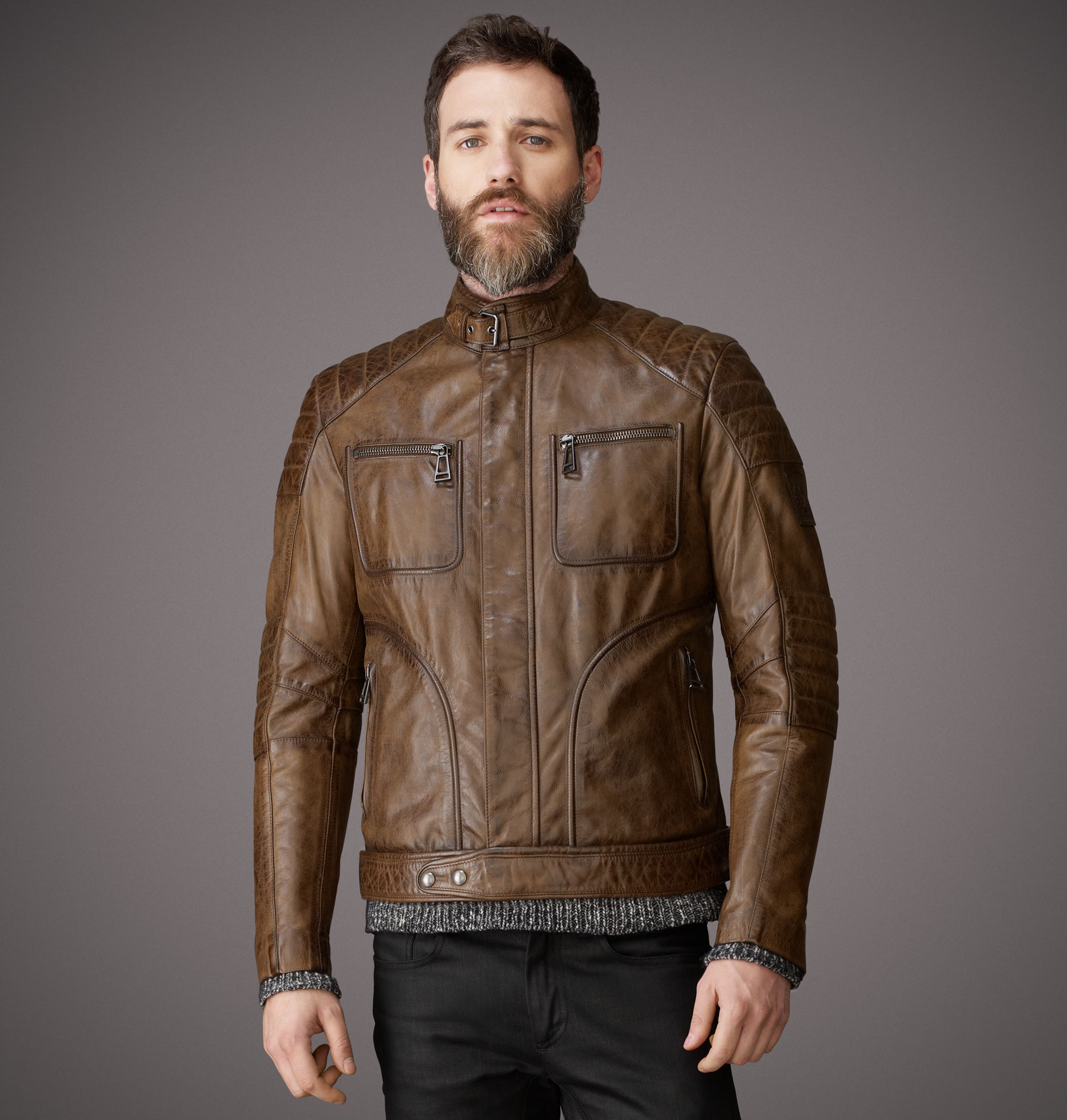 belstaff weybridge jacket in brown for men lyst. Black Bedroom Furniture Sets. Home Design Ideas