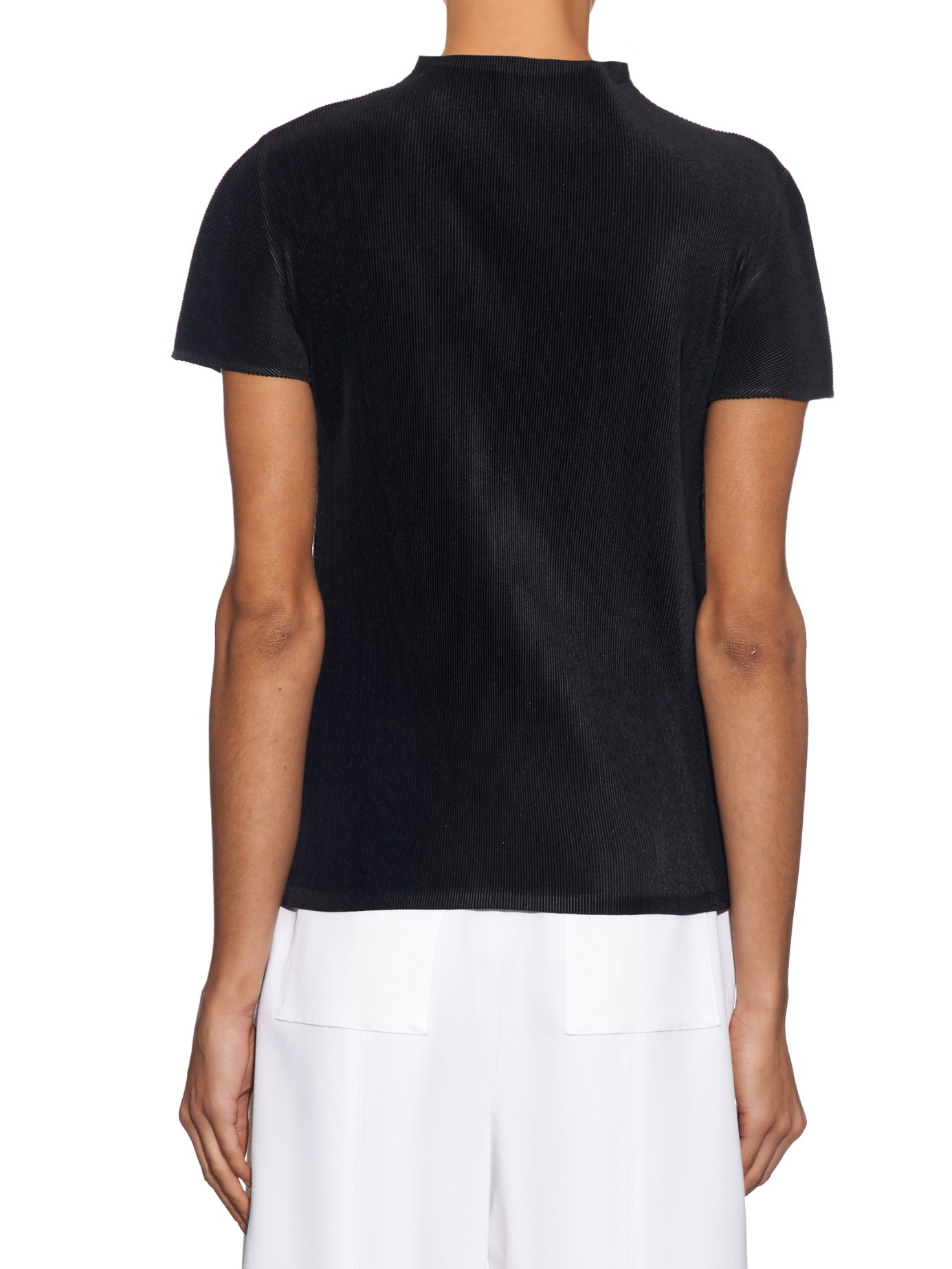 Free Shipping Sale Online Black Pleated T-Shirt Pleats Please Issey Miyake Cheap Sale Low Price Fee Shipping LzomBEL
