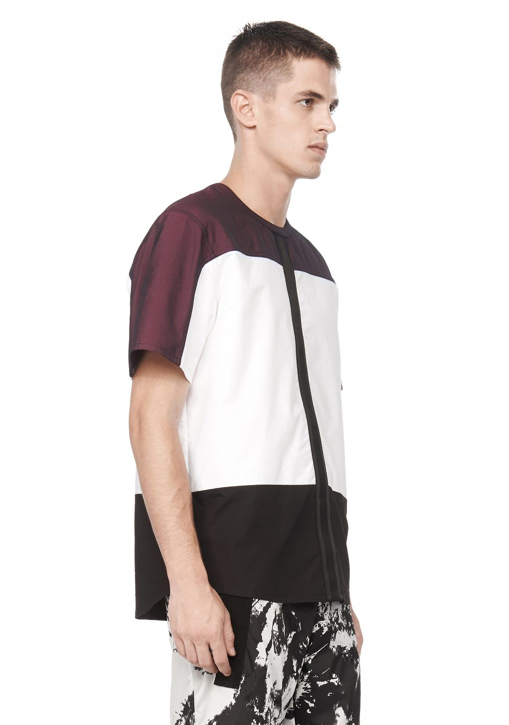 Lyst Alexander Wang Nylon Combo Shirt In White For Men