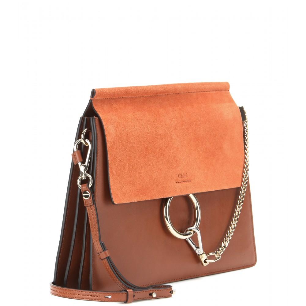 replica chloe faye python and leather clutch bag