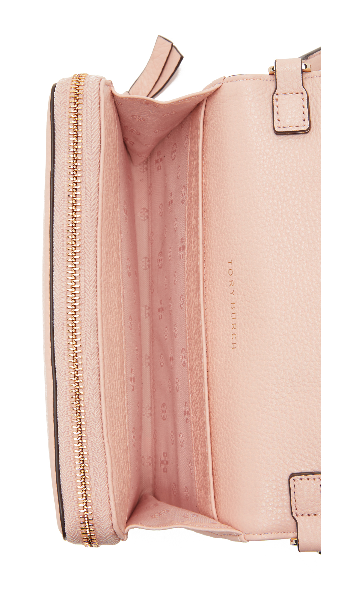 0e46d7091af Lyst - Tory Burch Thea Flat Wallet Cross Body Bag in Pink