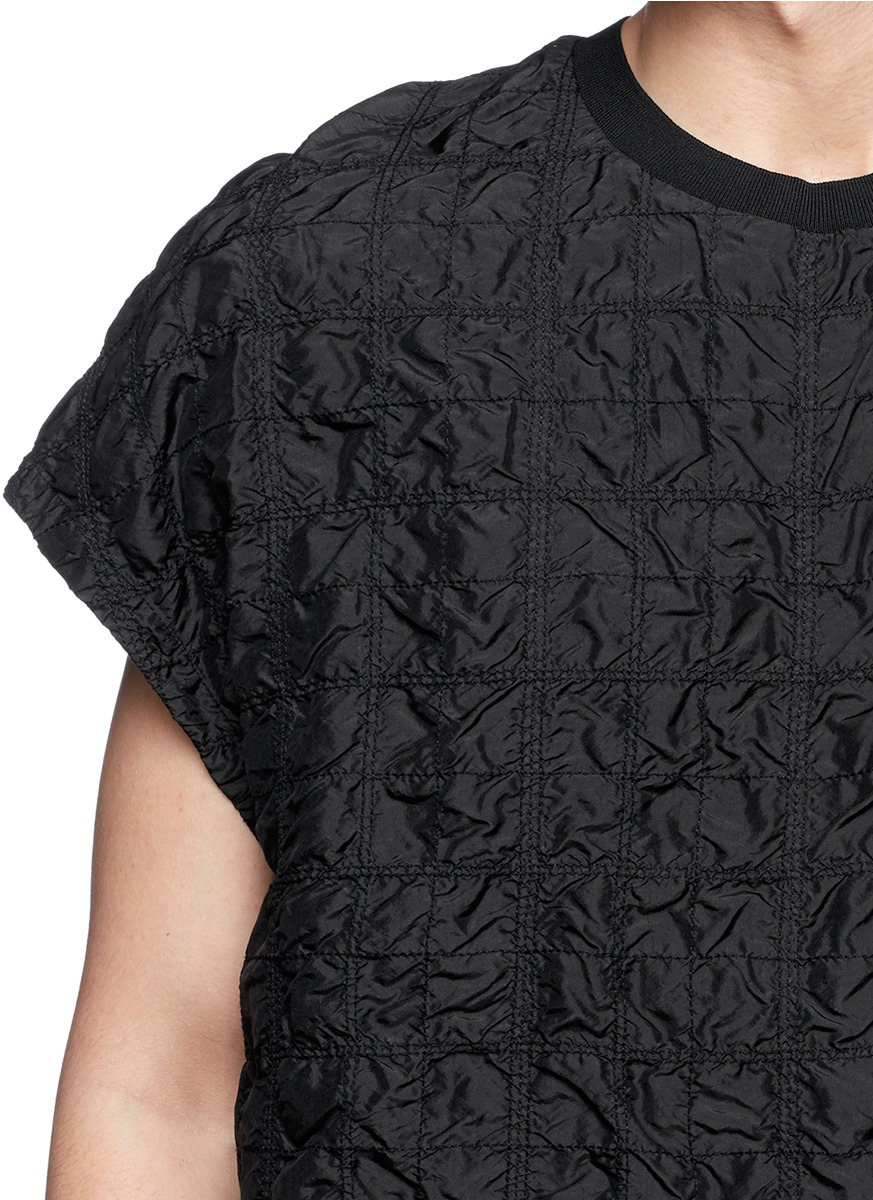 Black quilted t shirt - 3 1 Phillip Lim Men S Black Quilted Silk T Shirt