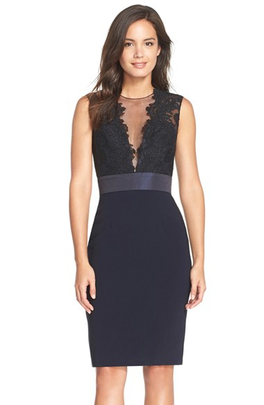 Theia lace cocktail dress