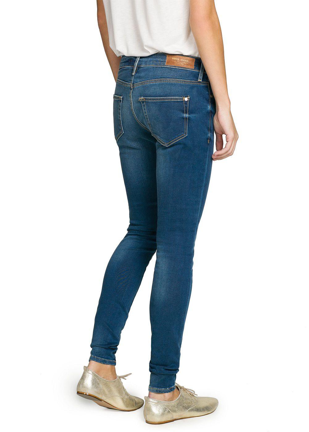 Mango Super Slimfit Elektra Jeans in Blue