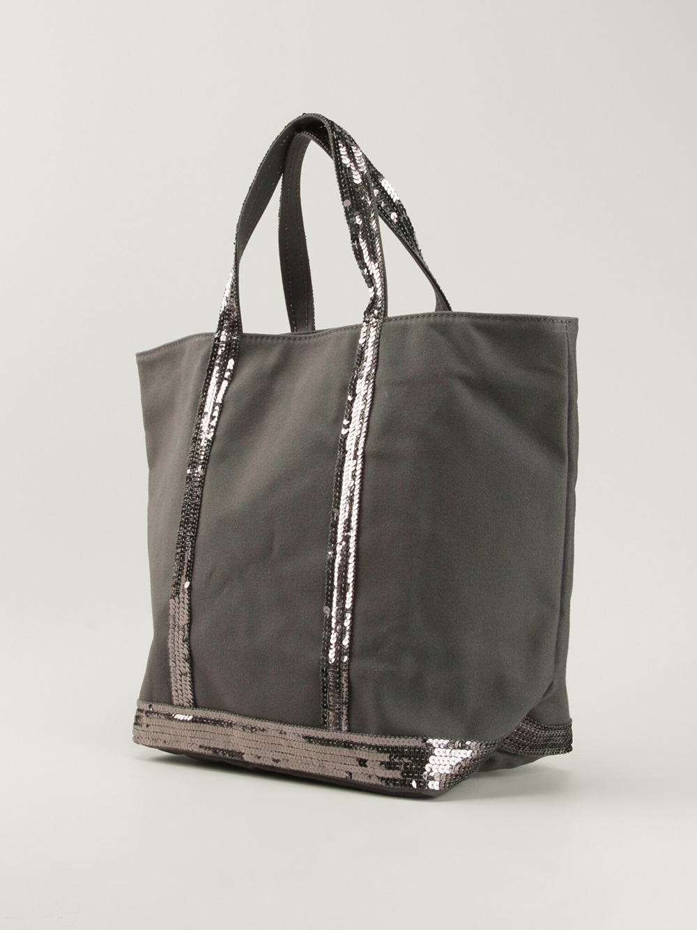 vanessa bruno cabas small shopper in gray lyst. Black Bedroom Furniture Sets. Home Design Ideas