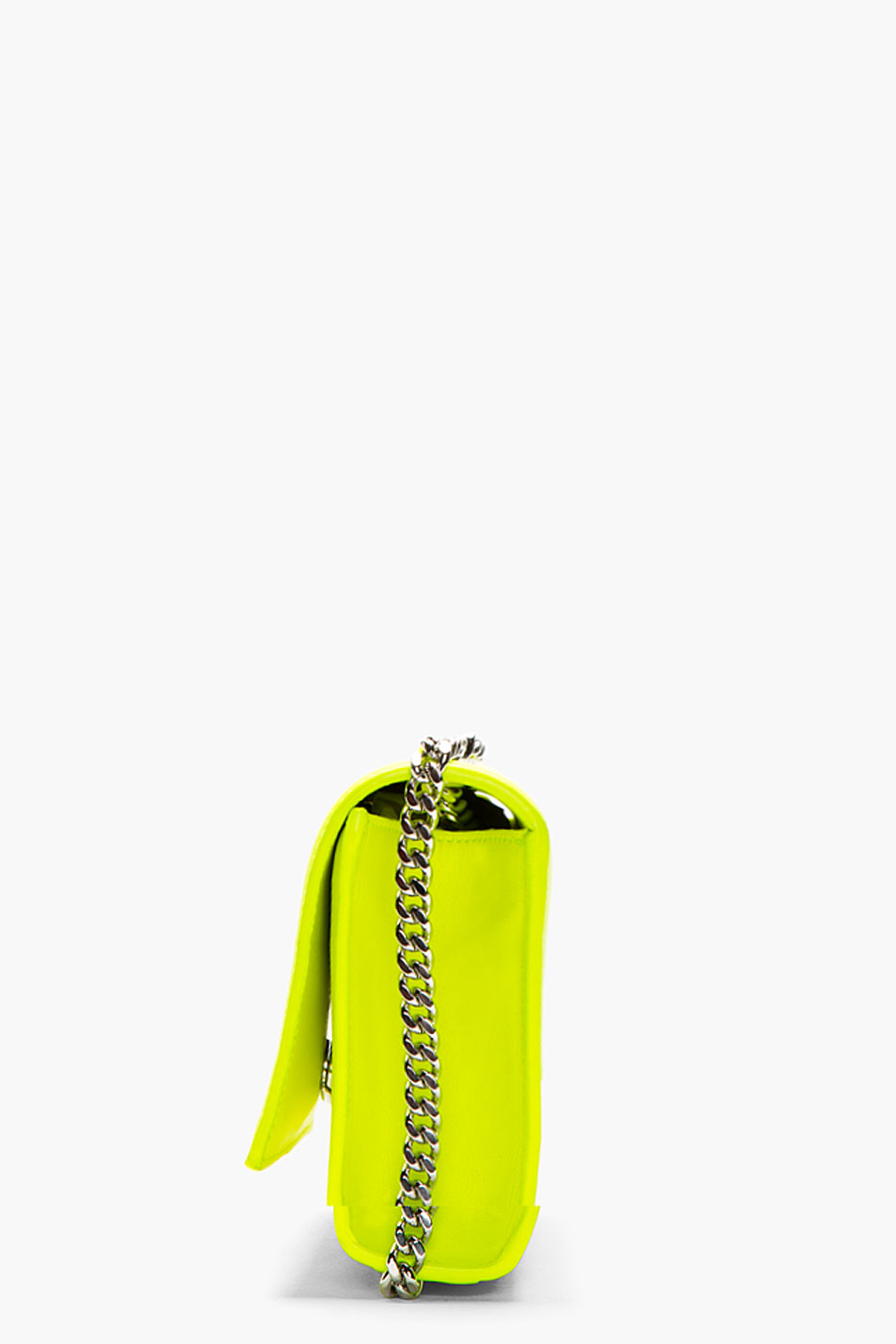 4569e53195 Saint Laurent Neon Yellow Leather Monogram Shoulder Bag in Yellow - Lyst