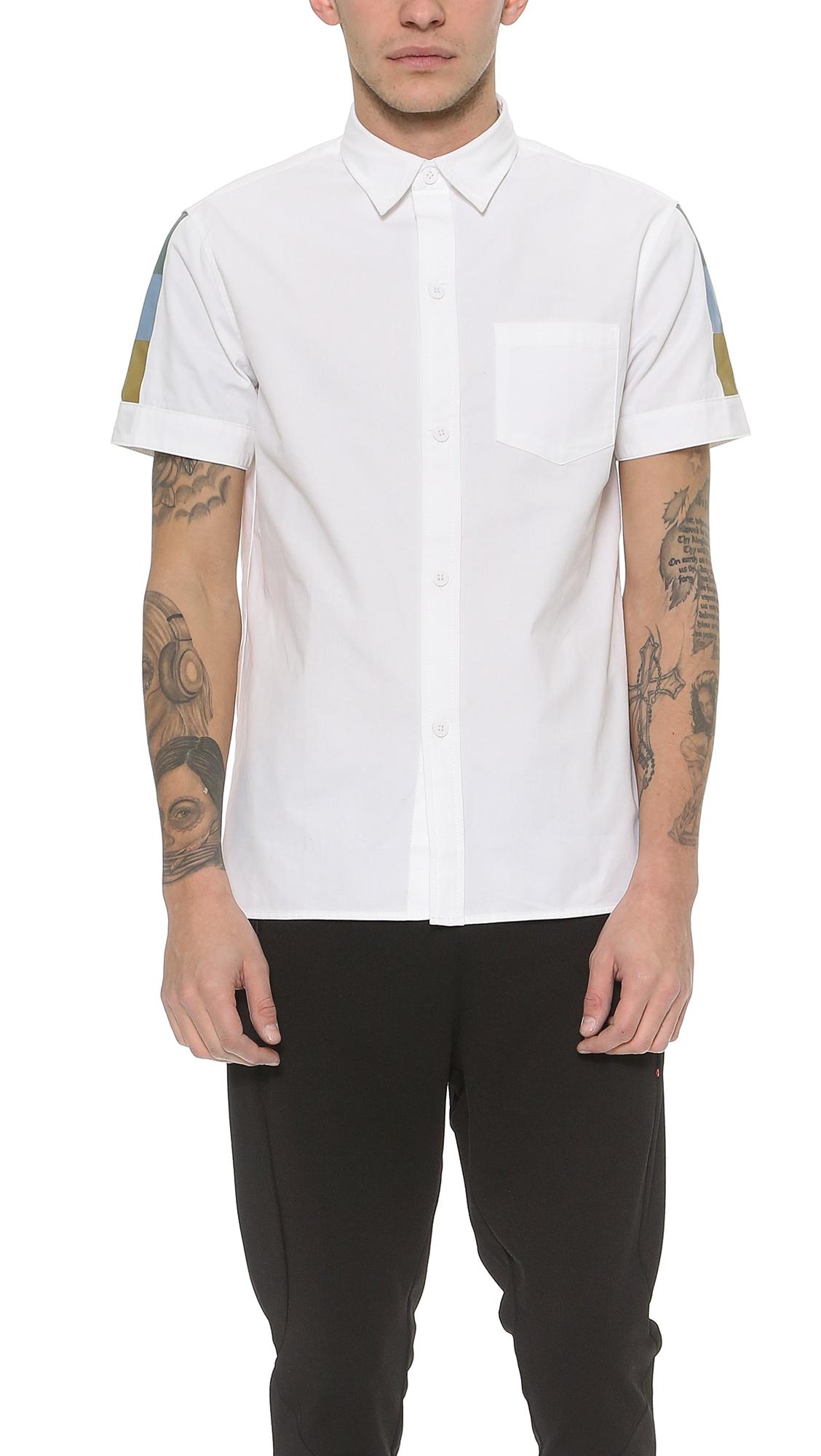 Lyst Han Kjobenhavn Mist Shirt In White For Men