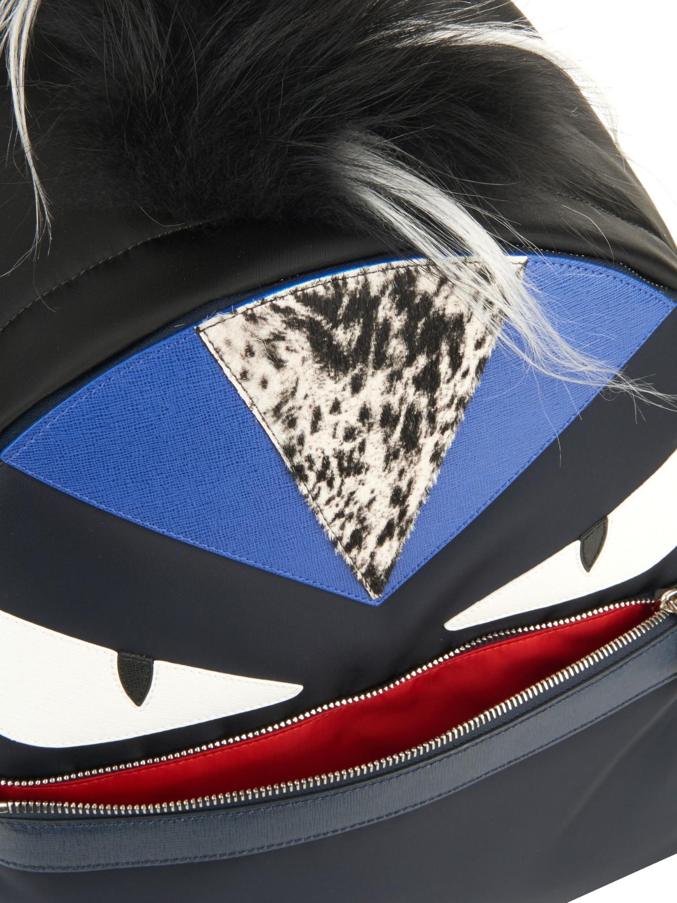 331c8ce5673 ... the latest 0d327 1b647 Lyst - Fendi Bag Bugs Nylon Backpack in Black  for Men ...