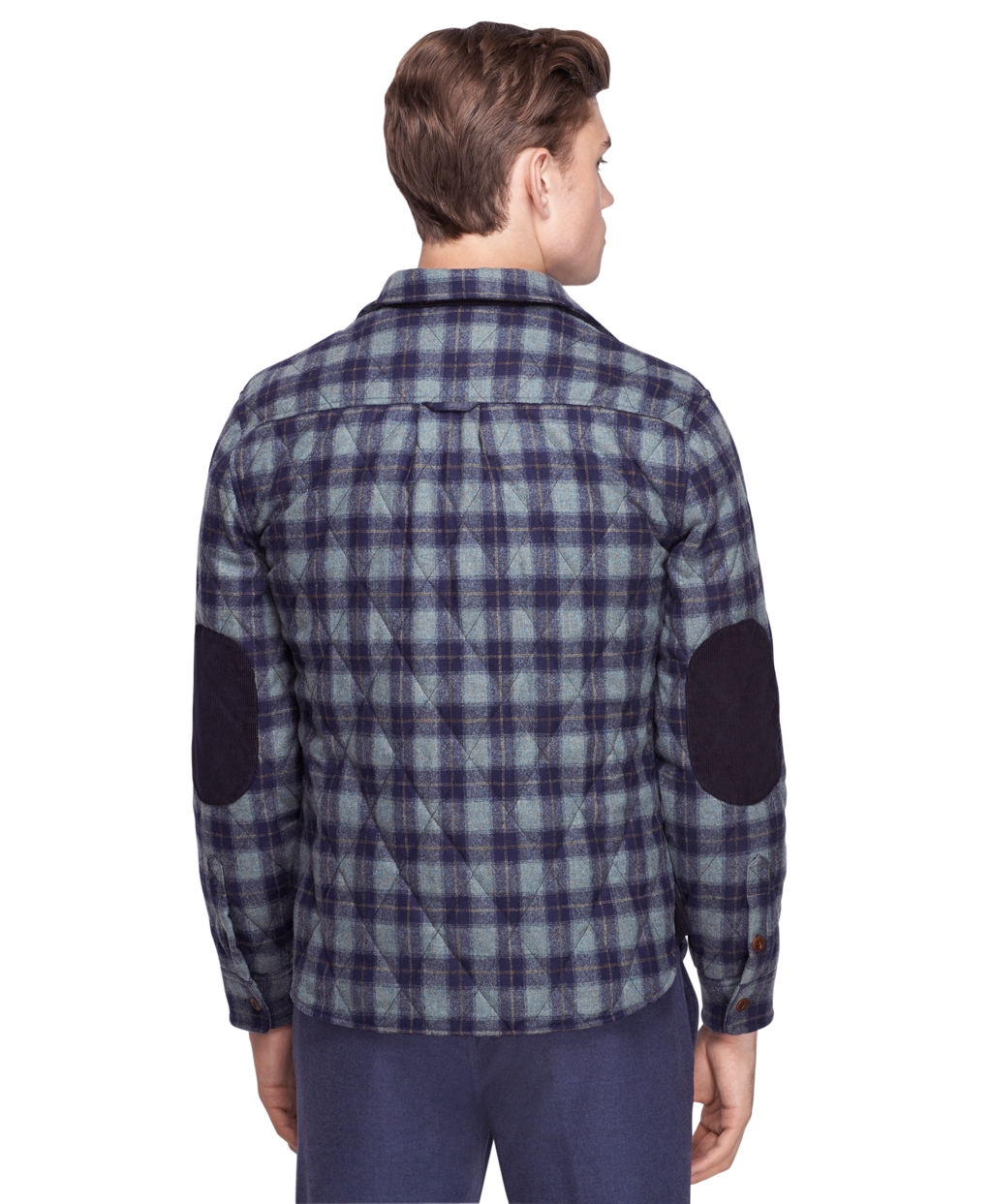 Brooks Brothers Pendleton Quilted Shirt Jacket In Green