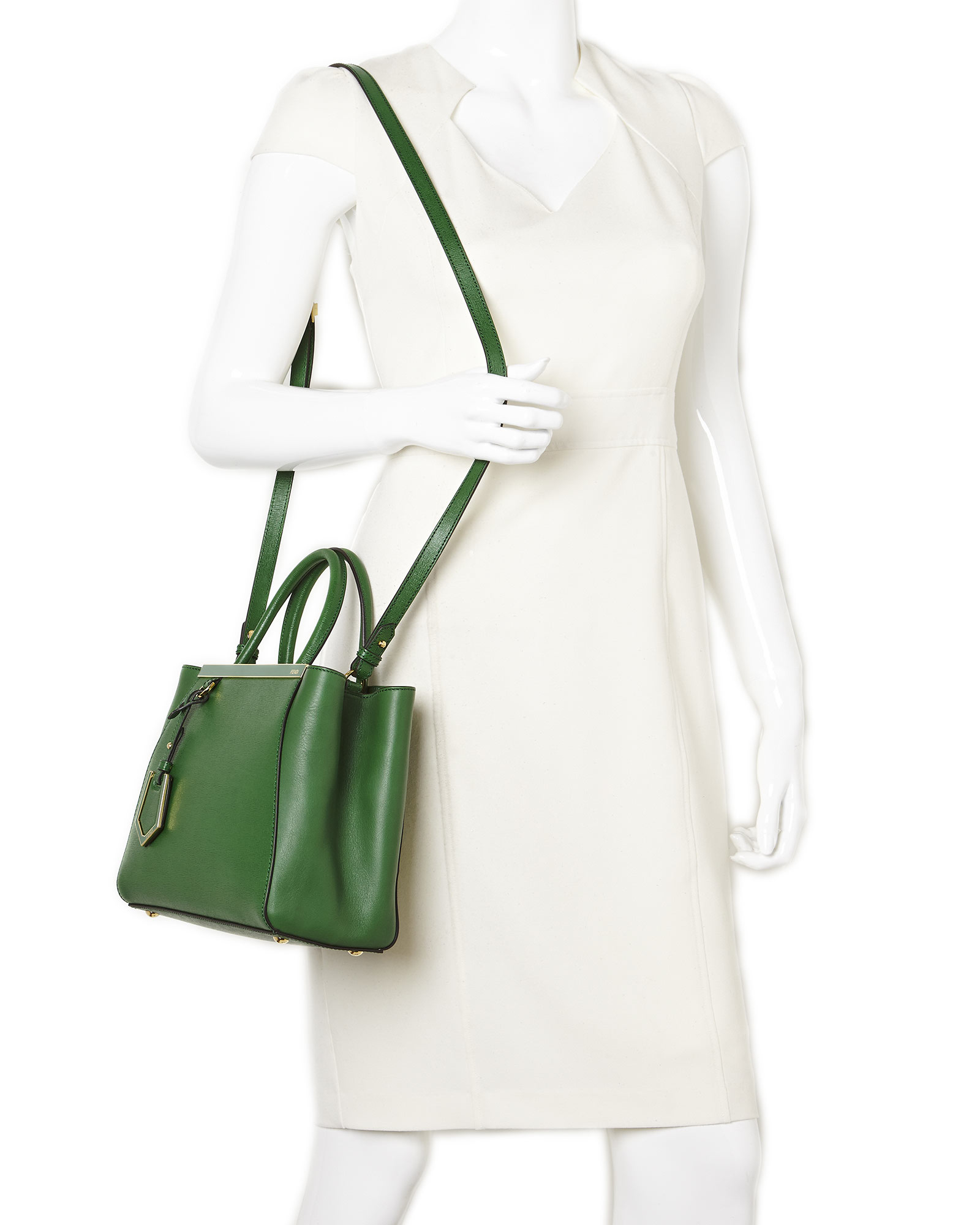 0cb8226c2c62 ... best price lyst fendi emerald green petite 2jours tote in green 19411  9b425 canada fendi 2jours leather ...